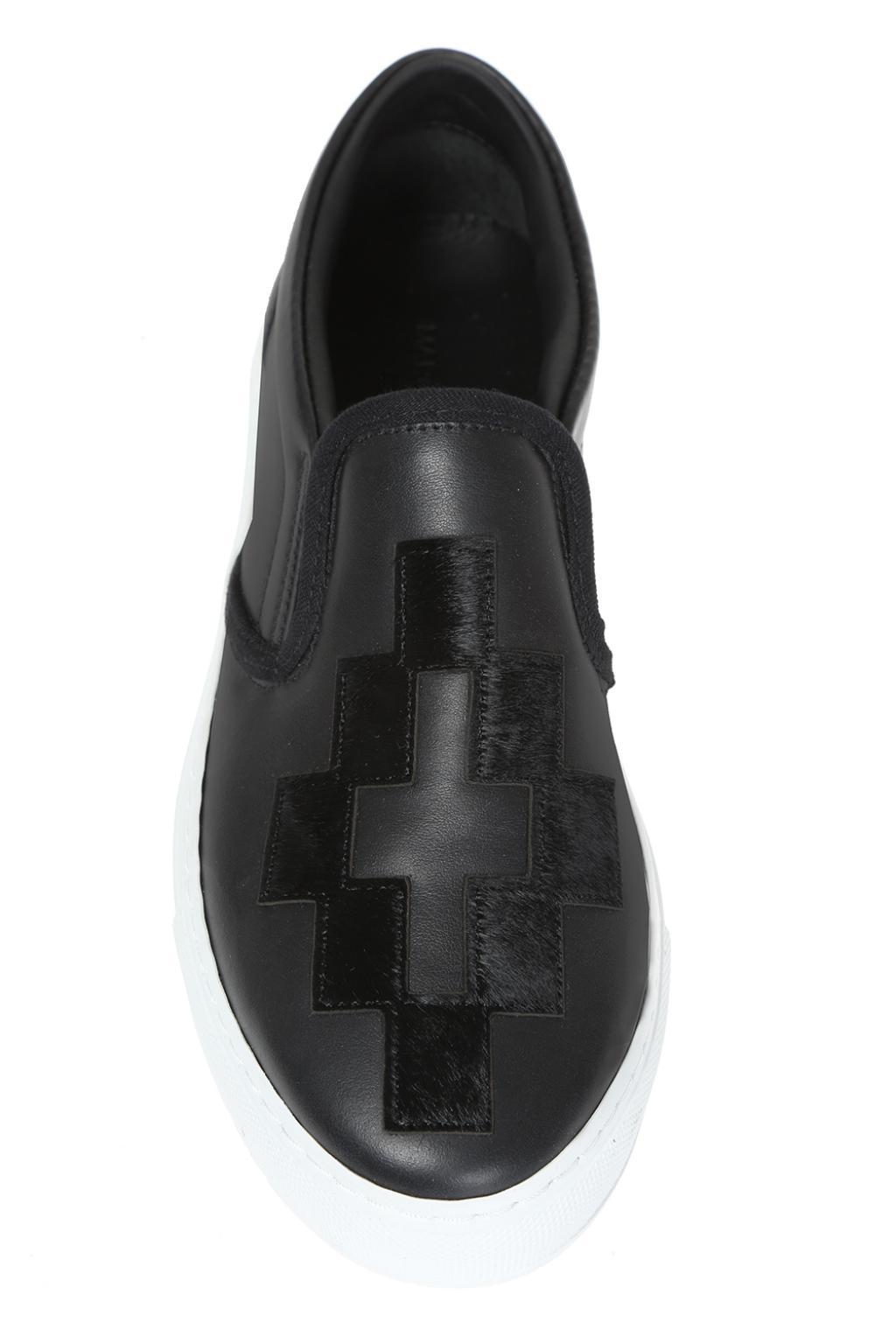 Marcelo Burlon Fur Slip-on Sneakers in Black