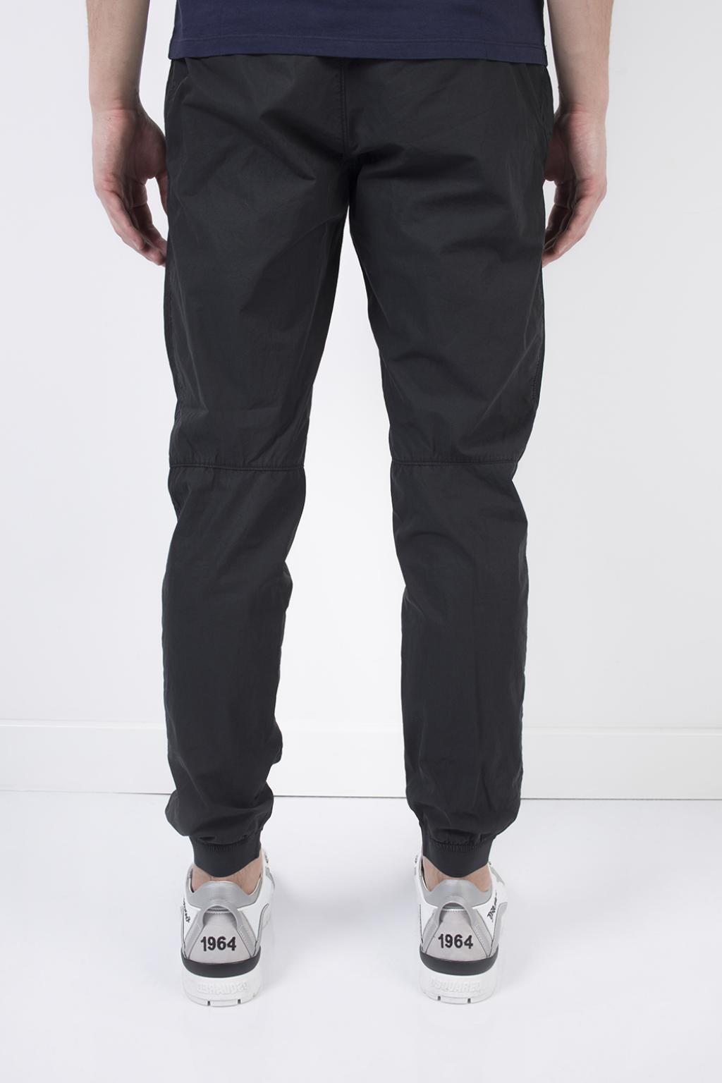 Stone Island Cotton Elasticated Cuffs Trousers in Blue for Men