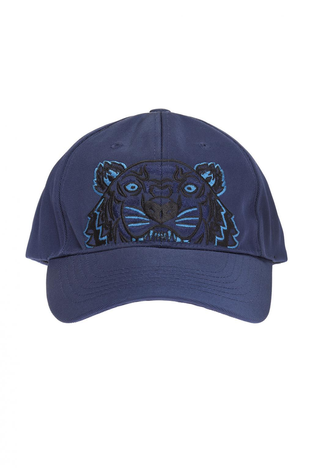 f4bb60f8e5e4ab KENZO Icons Tiger Print Cotton Cap in Blue for Men - Save 34% - Lyst