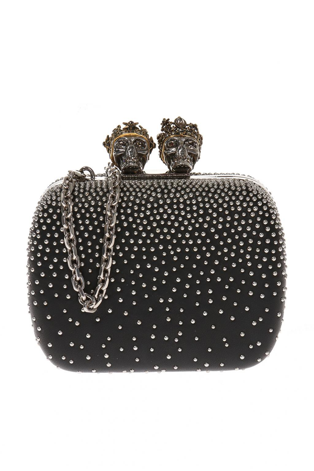Queen and King clutch - Black Alexander McQueen Buy Cheap Cheapest YudG7J0w