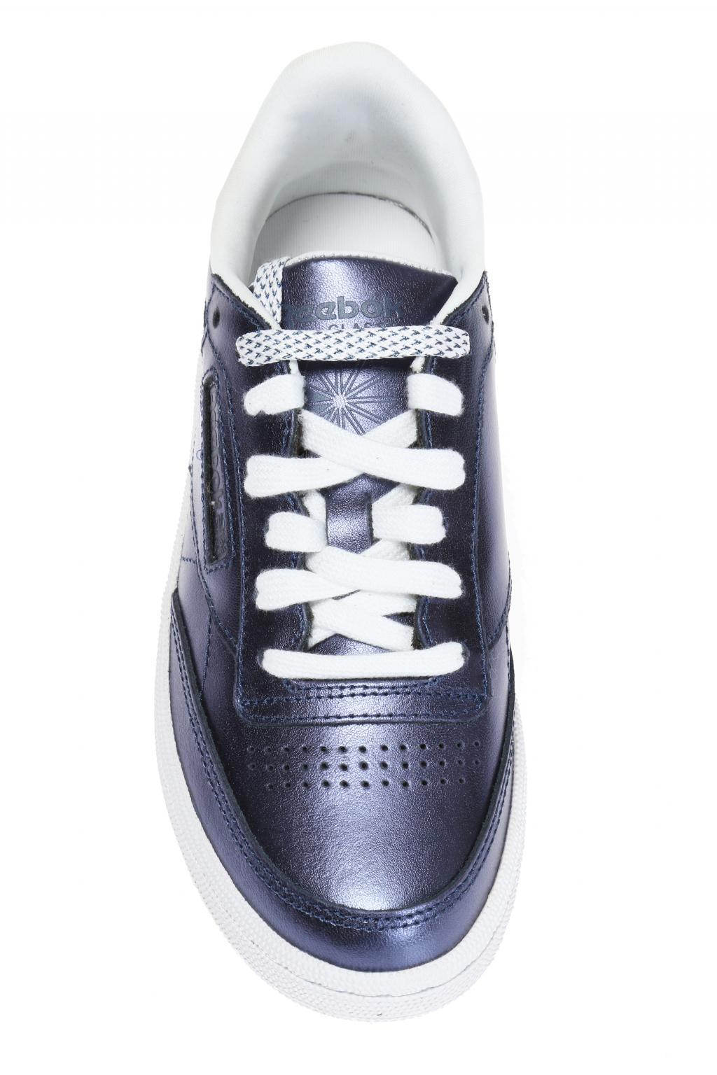 Reebok Leather 'club C 85 S Shine' Sneakers in Navy Blue (Blue)
