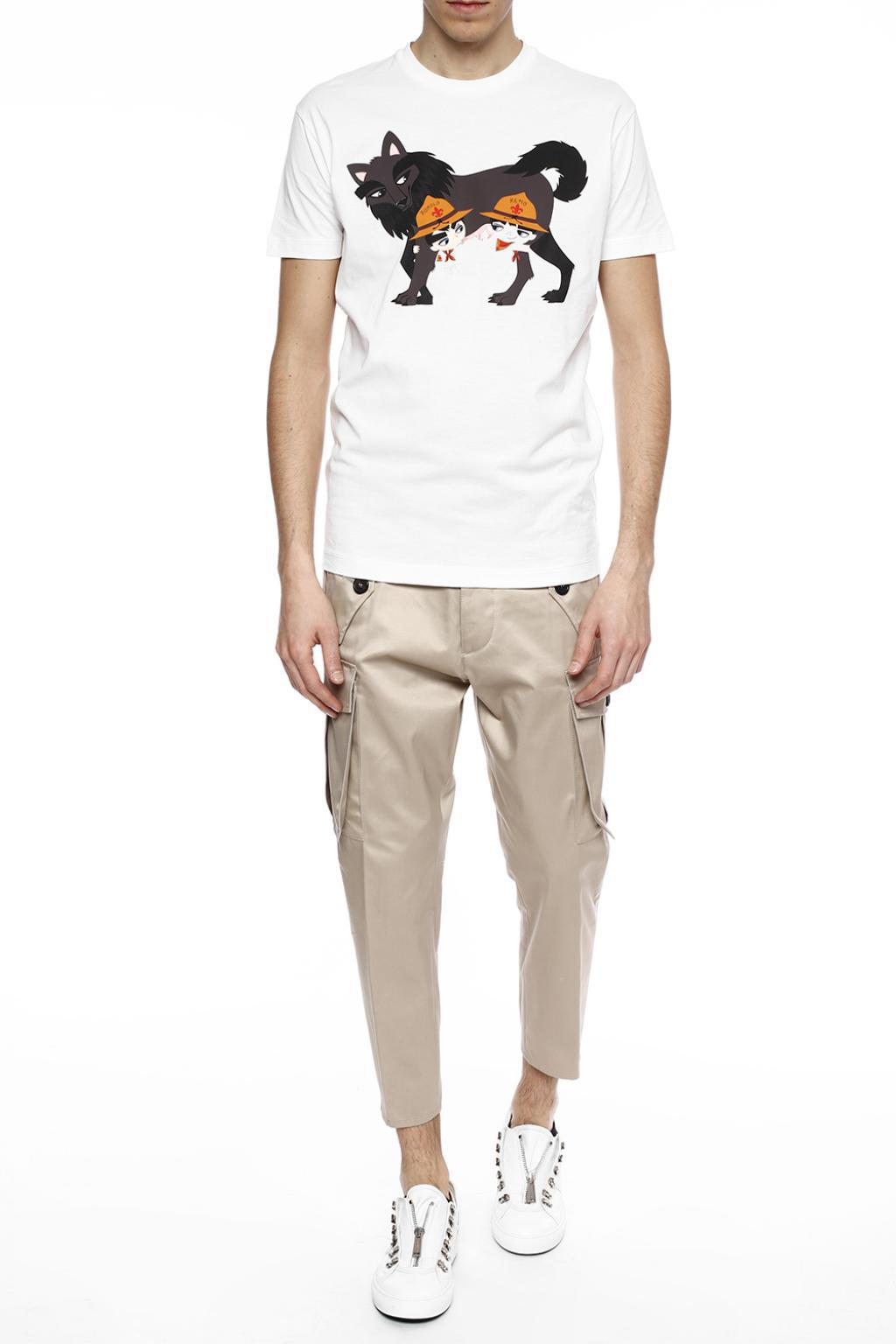 DSquared² Cotton Tapered Leg Trousers in Brown for Men