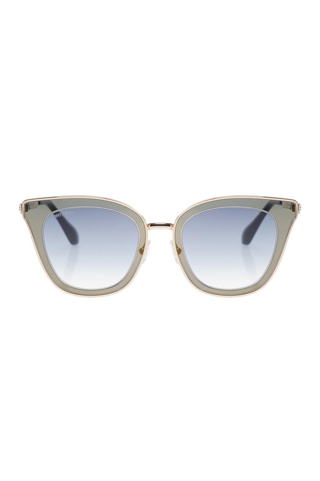 c702e11af78 Lyst - Jimmy Choo  lory  Sunglasses in Metallic