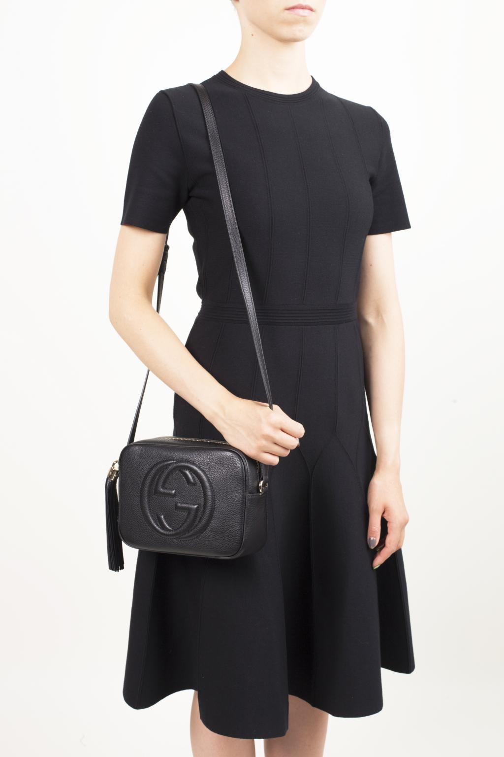 Gucci Leather Soho Camera Bag In Black Lyst