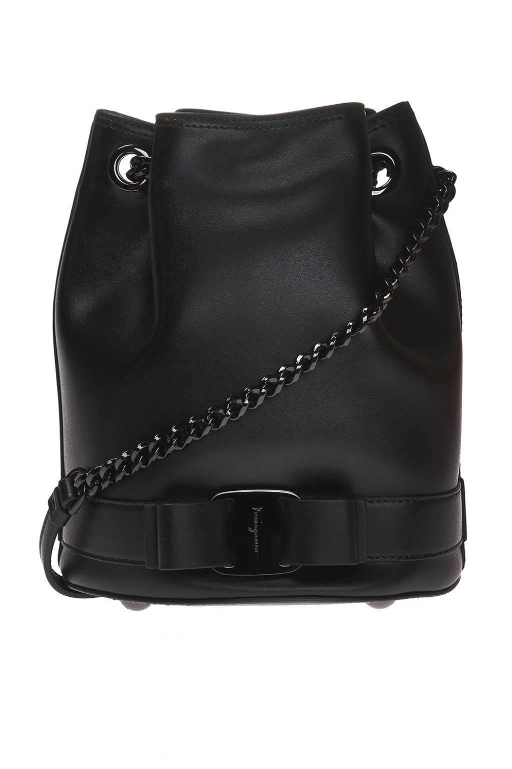 f4bff4b58341 Lyst - Ferragamo  vara  Shoulder Bag in Black