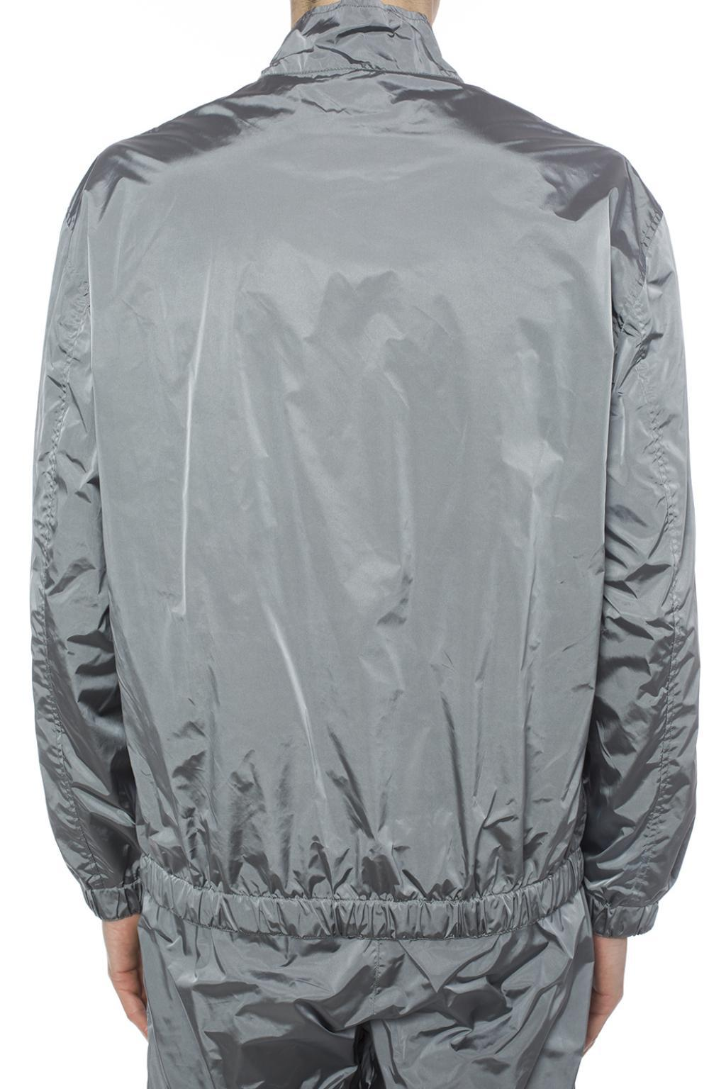 MISBHV Synthetic Jacket With Embroidered Logo in Grey (Grey) for Men