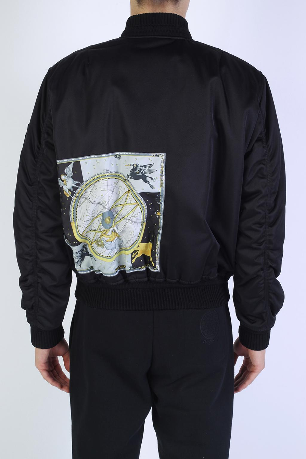 Versace Synthetic Bomber Jacket in Black for Men