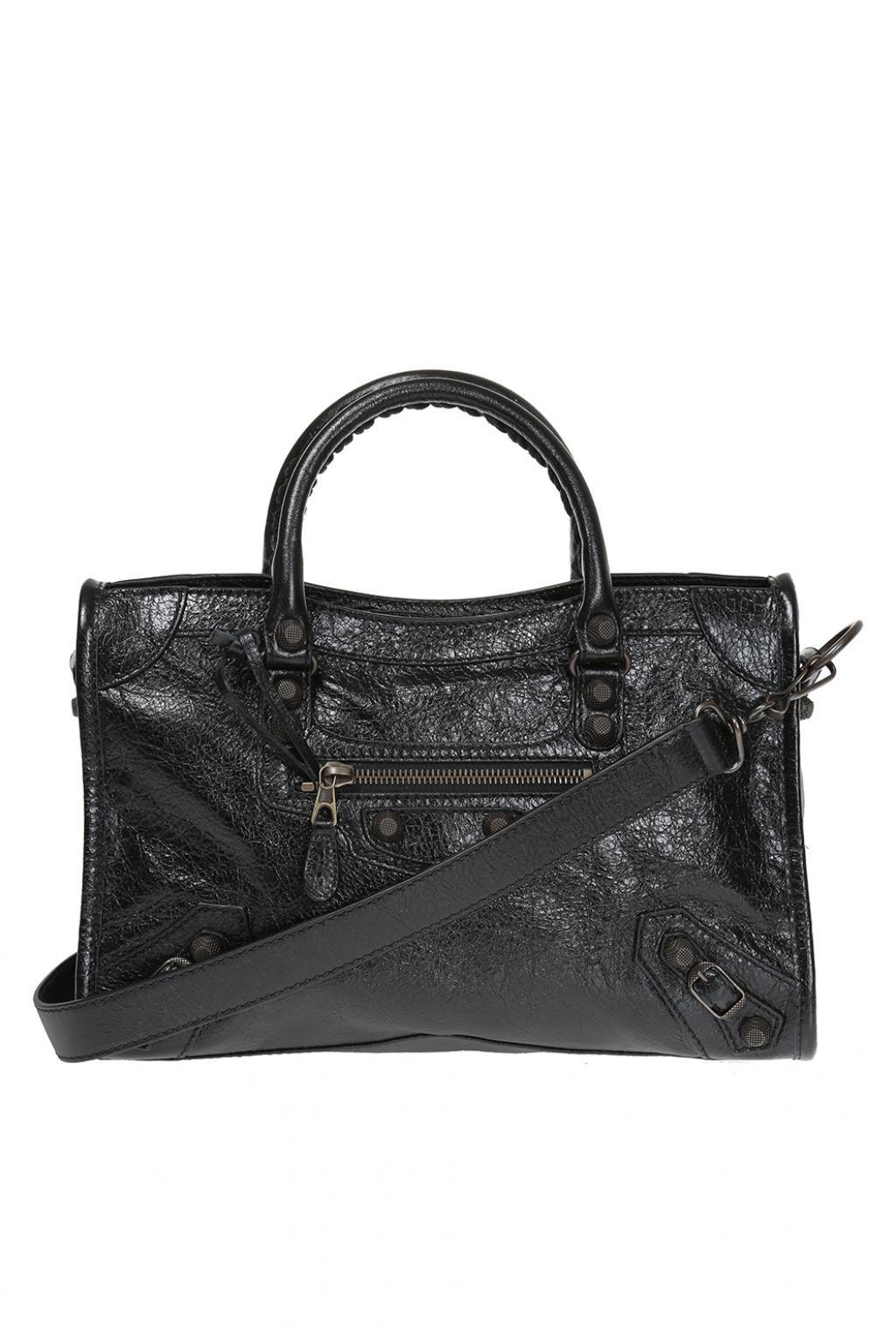 Lyst - Balenciaga  giant 12 City  Shoulder Bag in Black 20a3020334fce