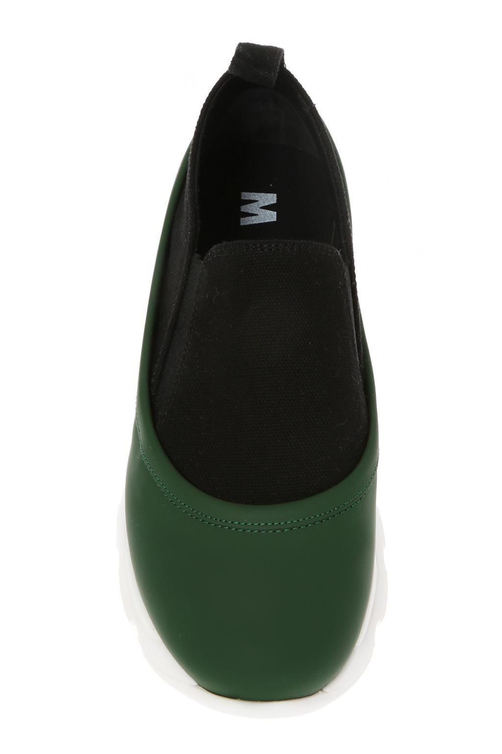 Marni Leather-trim Sneakers in Black