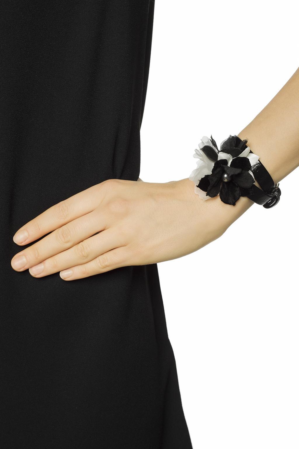 Lyst Lanvin Bracelet With Silk Flower In Black
