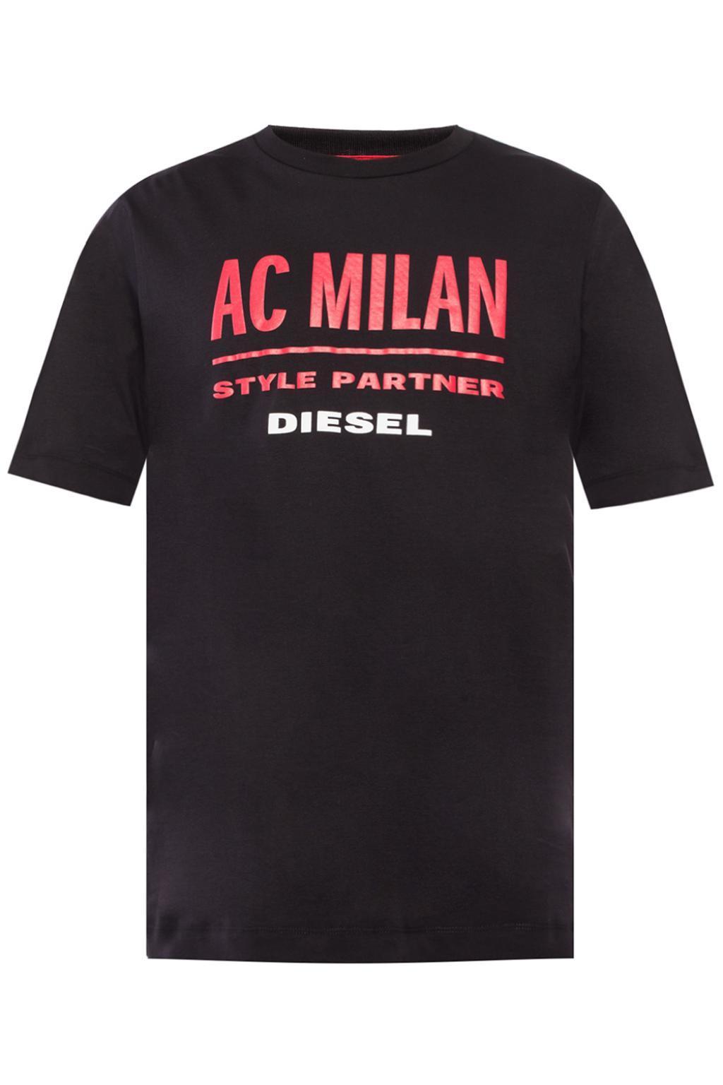 DIESEL X Ac Milan in Black for Men - Save 4% - Lyst 08383bb12