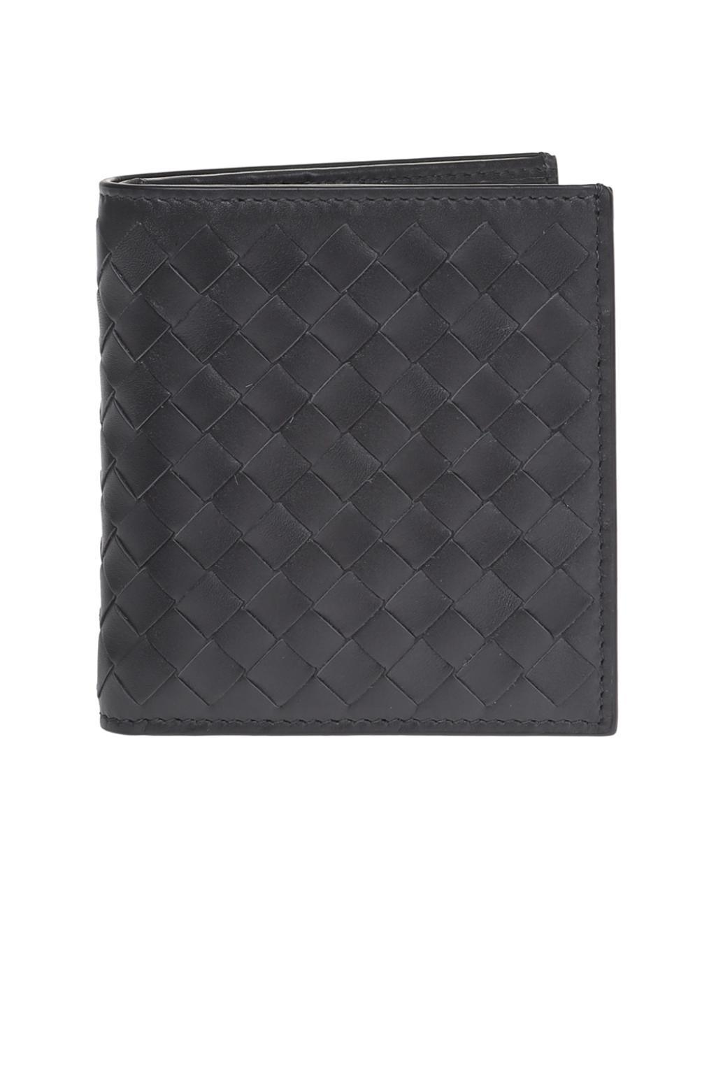 e6a25a28bfa019 Bottega Veneta Bi-fold Leather Wallet in Gray for Men - Lyst