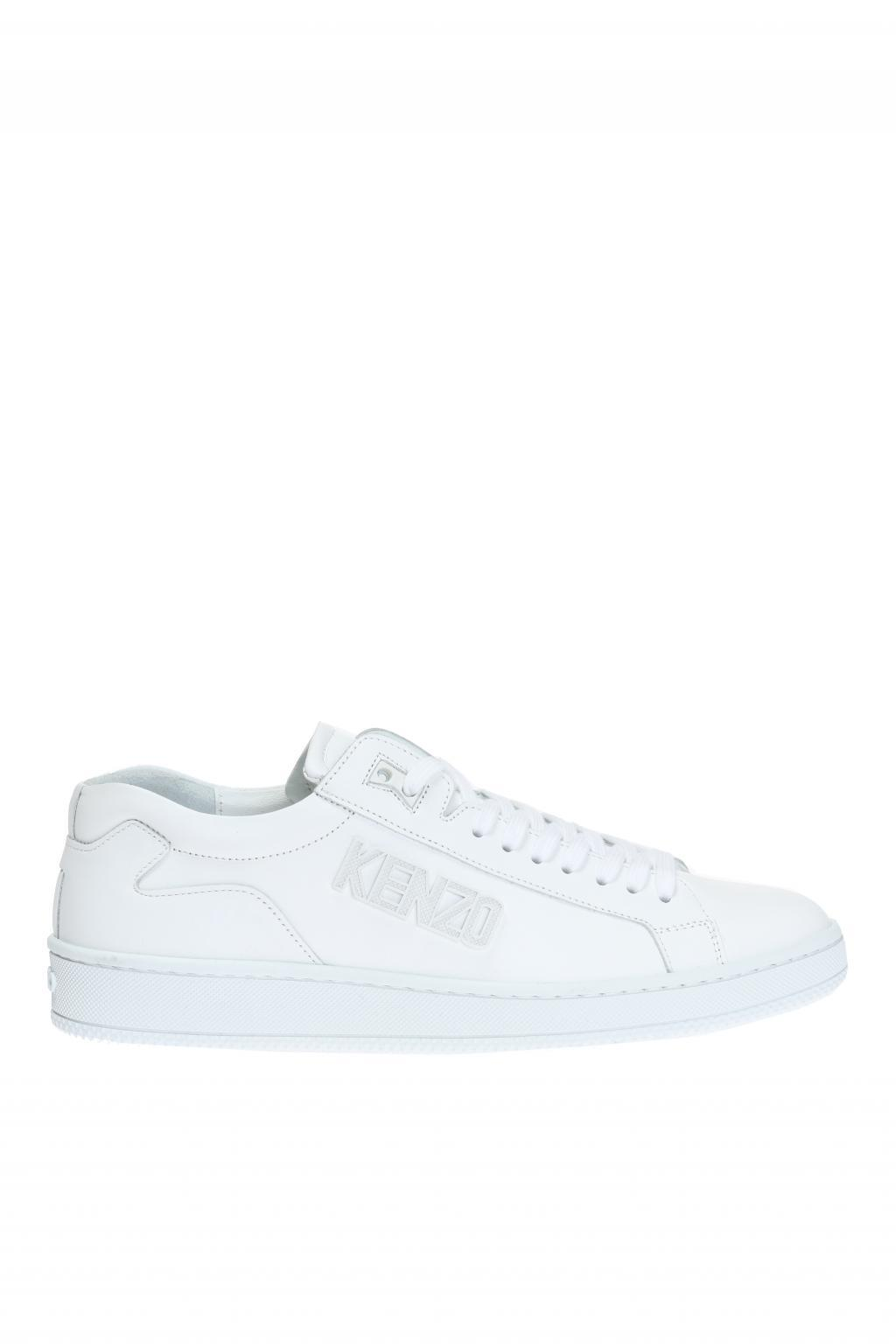 Kenzo White Leather Daisy Sneakers