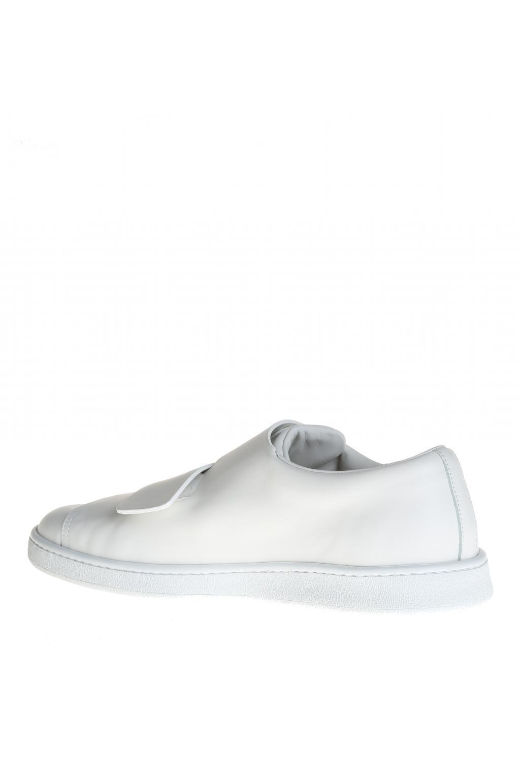 Acne Studios Leather Velcro Sneakers in White