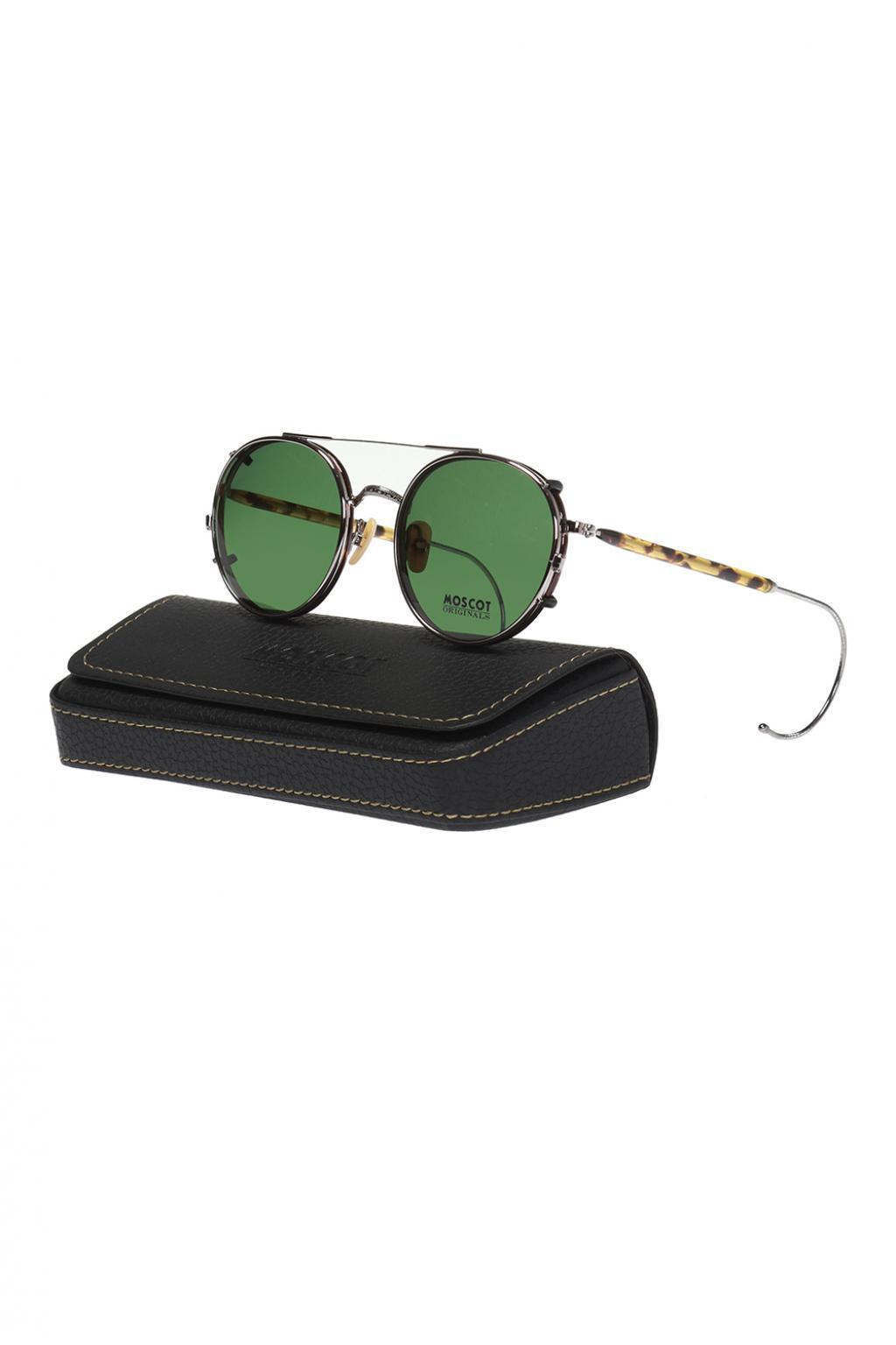 16aaaa6f8f Lyst - Moscot  spiel Clip  Sunglasses in Metallic for Men