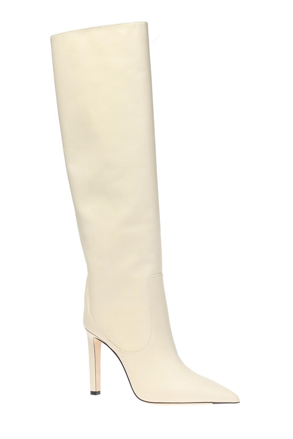 Jimmy Choo Leather Mavis 85 Boots in