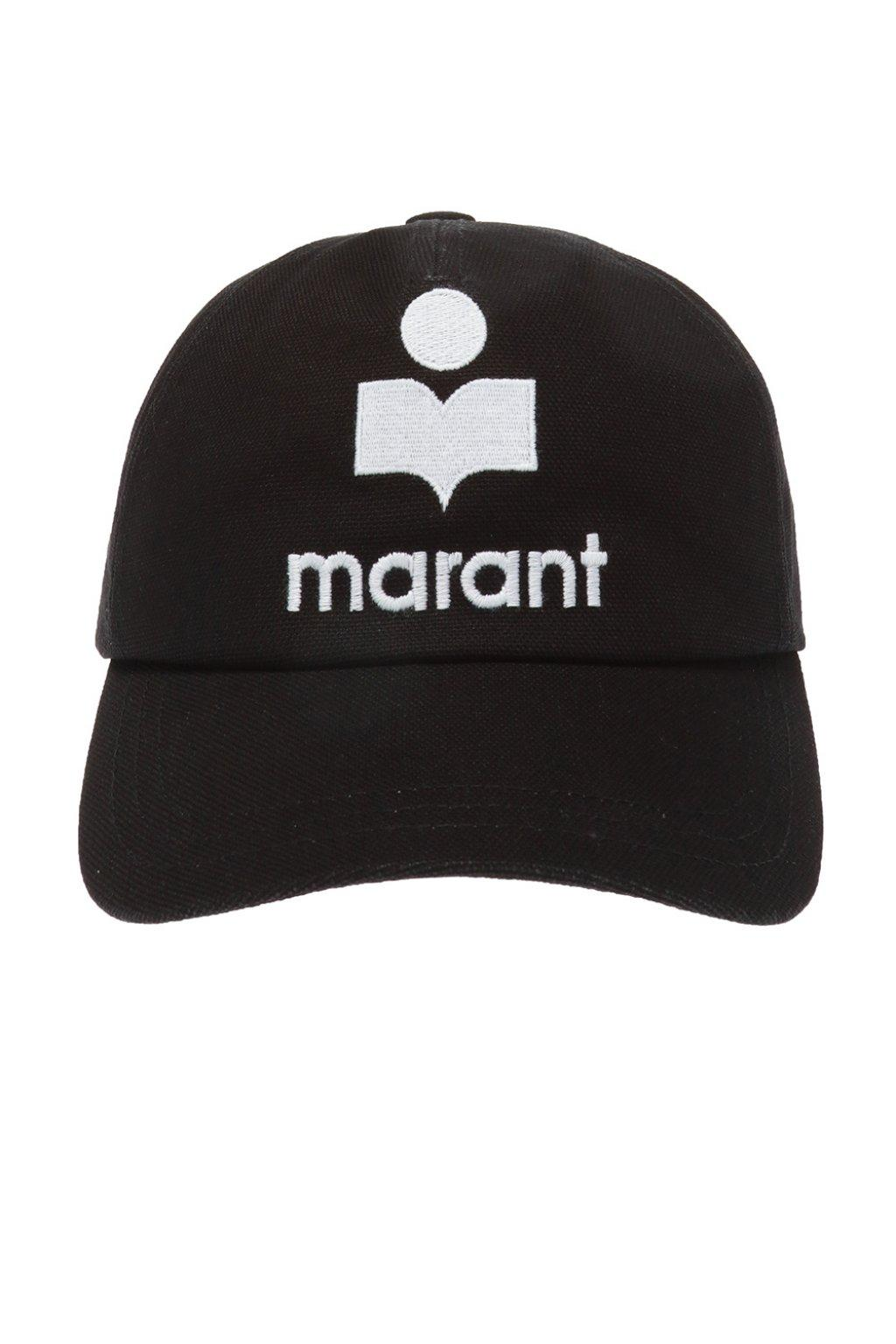 factory authentic top quality new images of Isabel Marant Cotton Tyron Hat in Black - Lyst