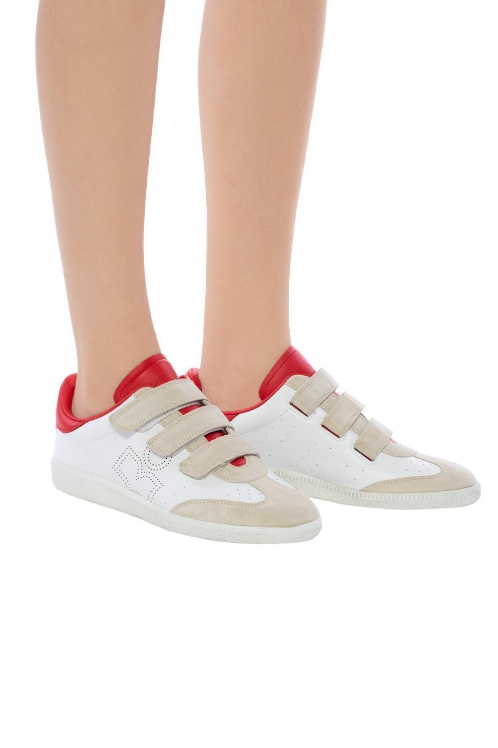 bd416529b08 Isabel Marant - White 'beth' Sneakers - Lyst. View fullscreen