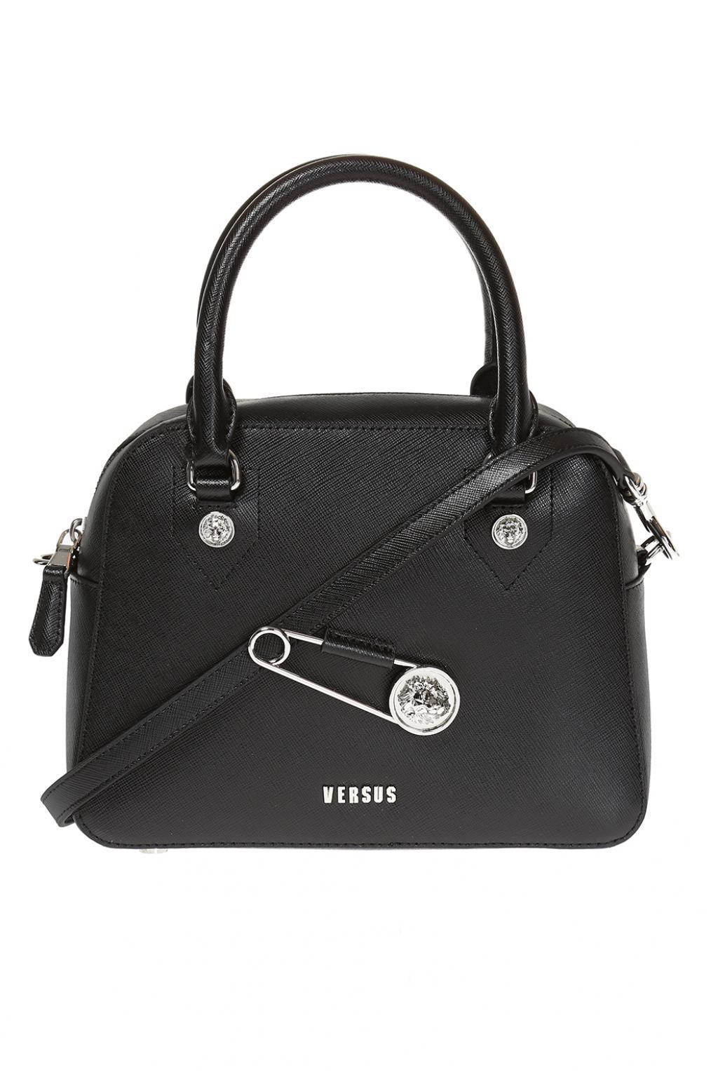 38da683490cc Lyst - Versace Safety-pin Shoulder Bag in Black