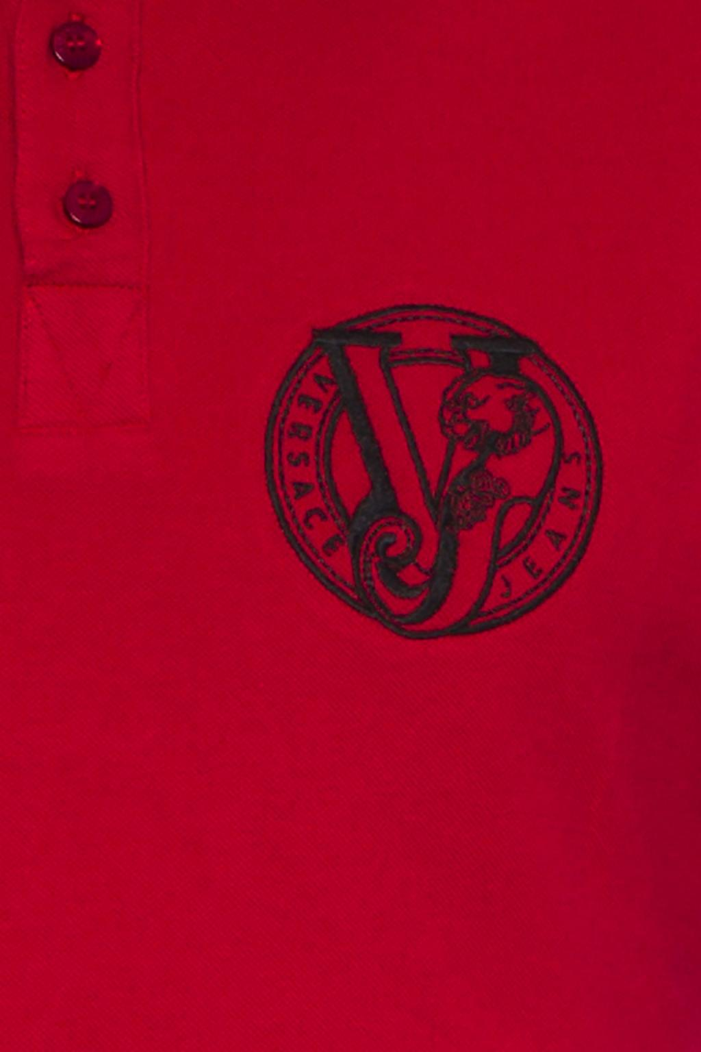 Versace Jeans Couture Cotton Polo Shirt in Red for Men