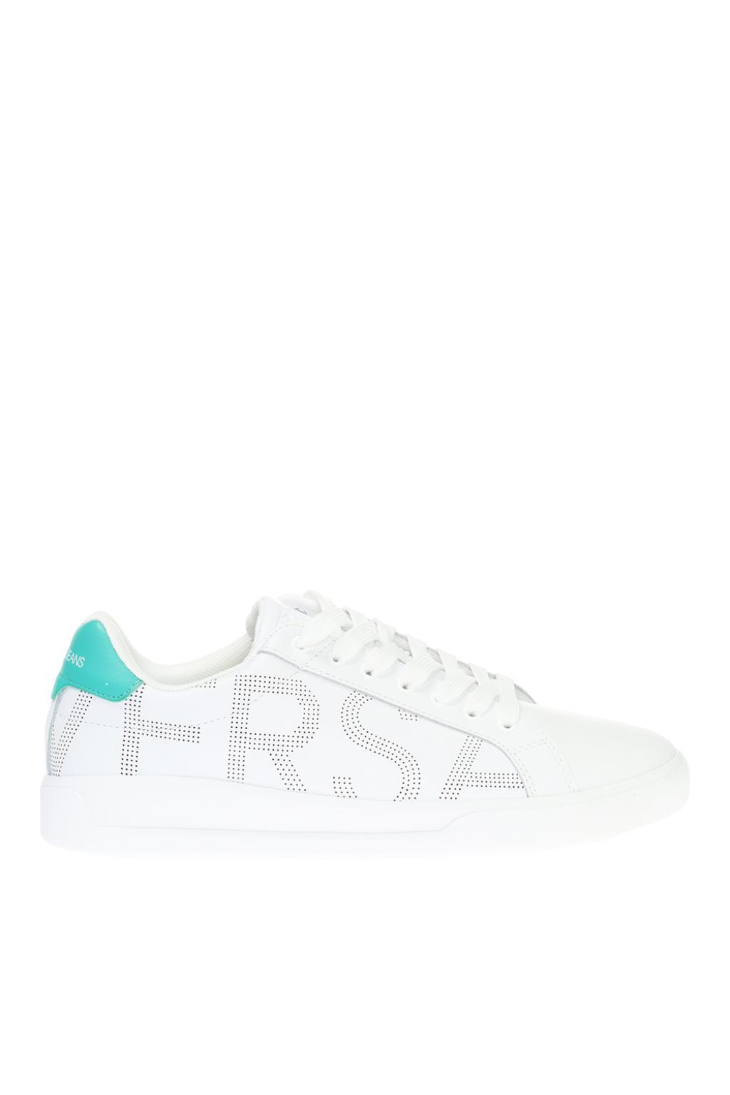 438411a5 Lyst - Versace Jeans Branded Sneakers in White for Men