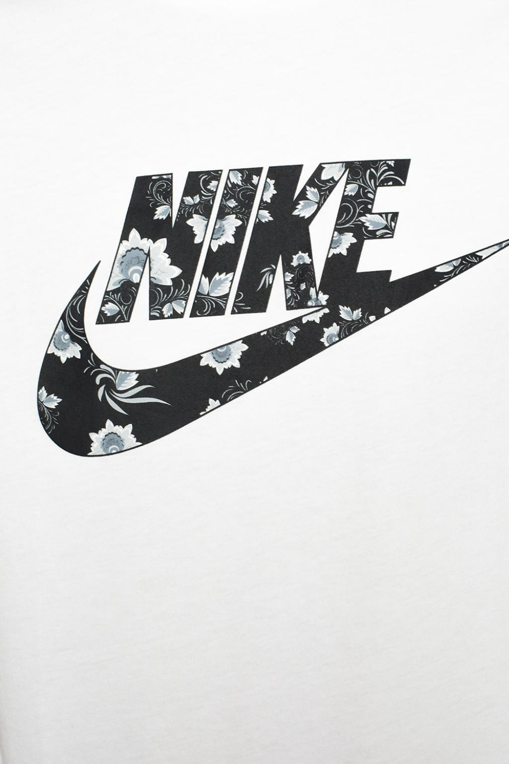 Nike Cotton Floral Motif T Shirt In White For Men Lyst