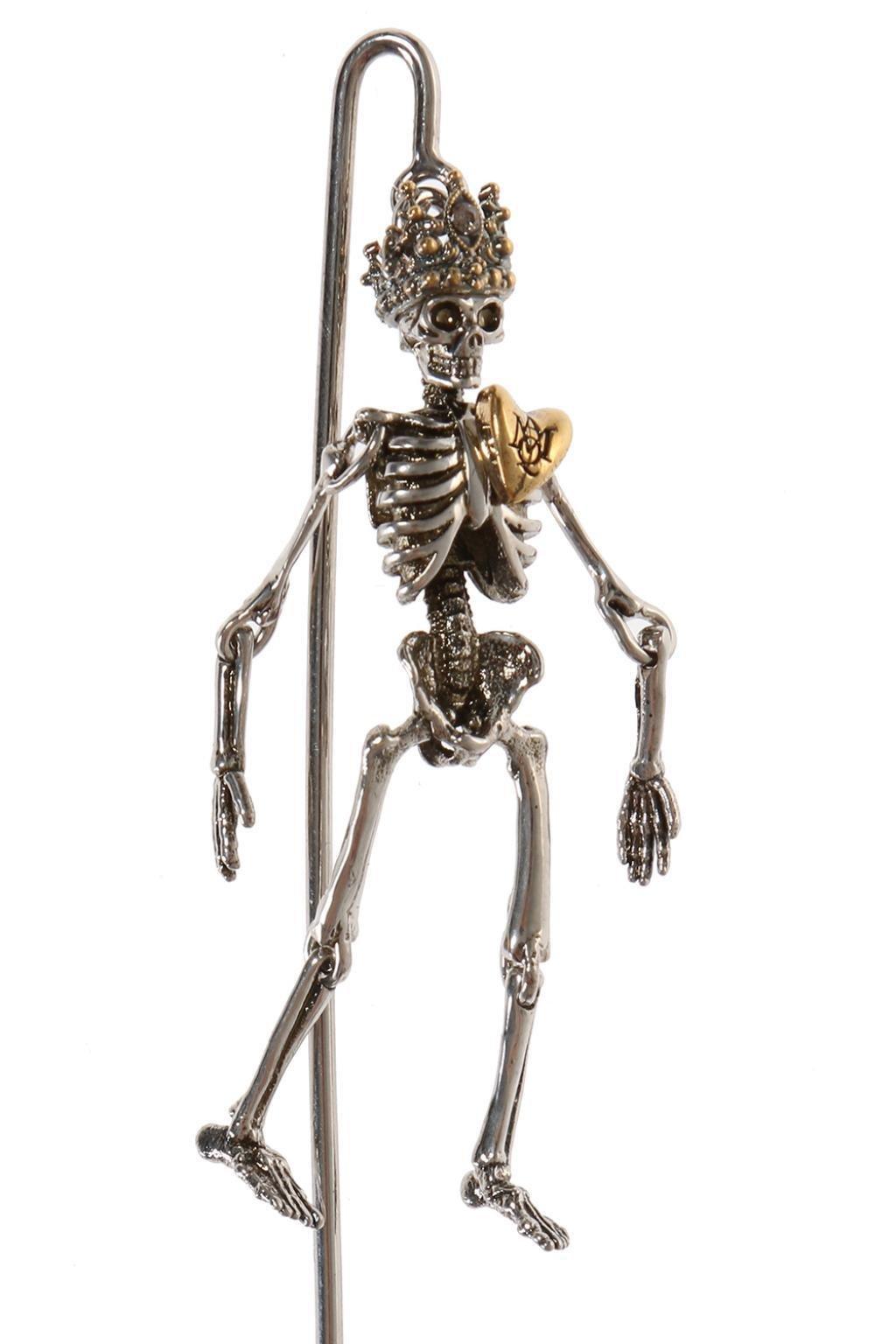0ef576eee853 Alexander McQueen Skeleton Pin in Metallic for Men - Lyst