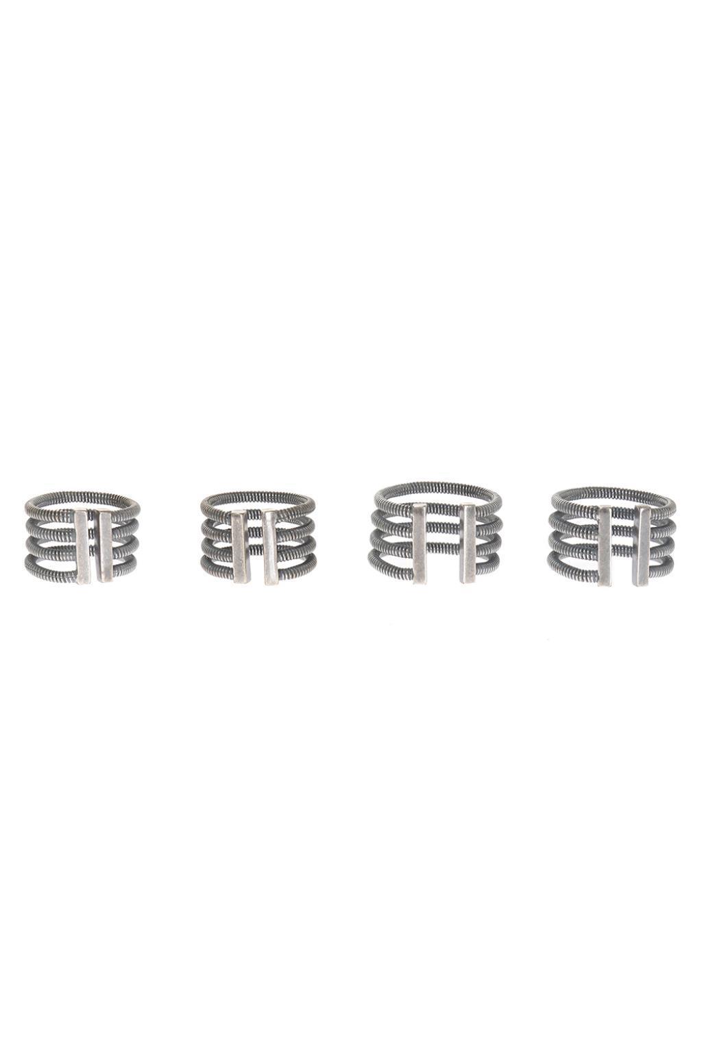 Maison Margiela Set Of 4 Rings in Silver (Metallic) for Men
