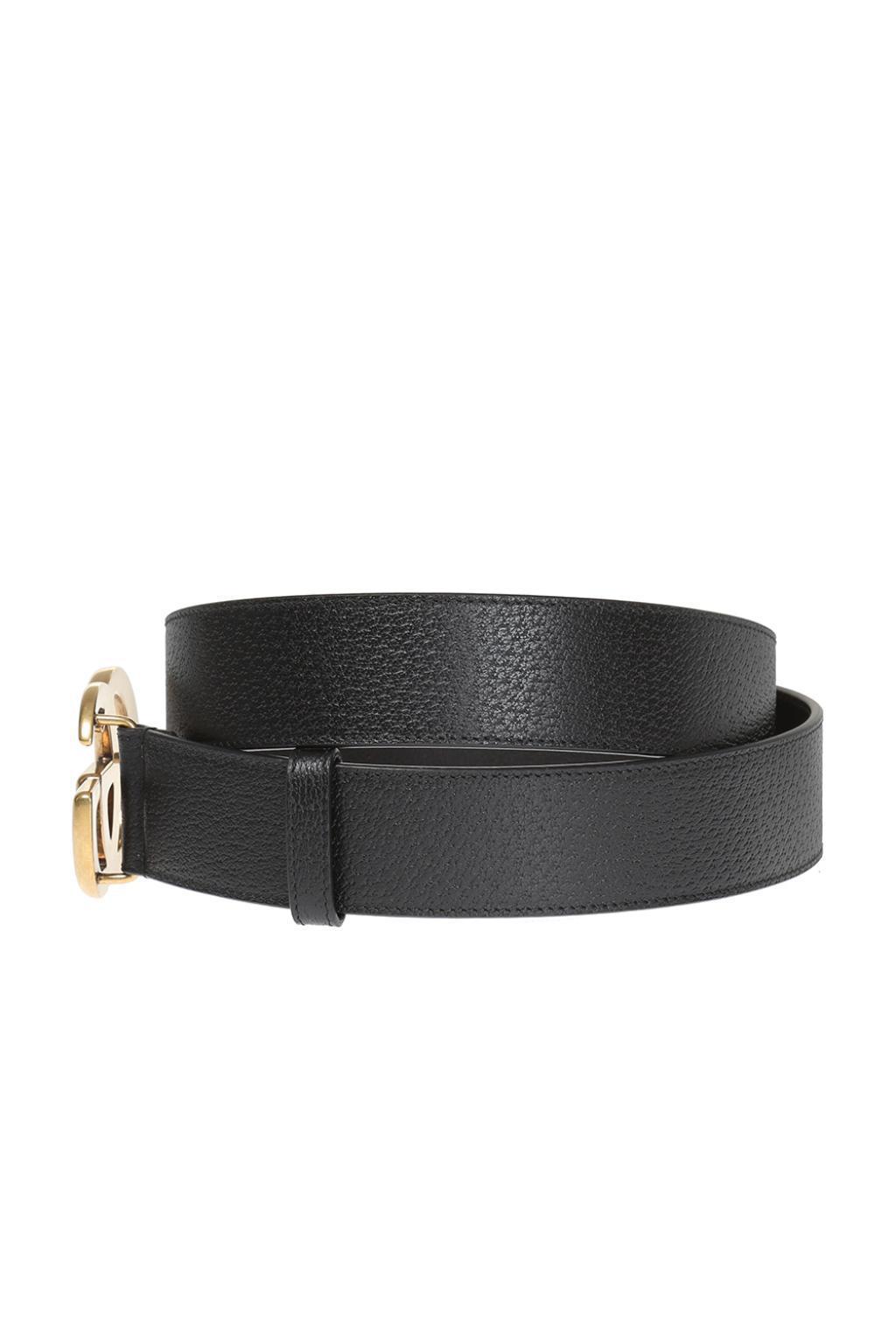 d442eee5e7e Gucci - Black Leather Belt for Men - Lyst. View fullscreen