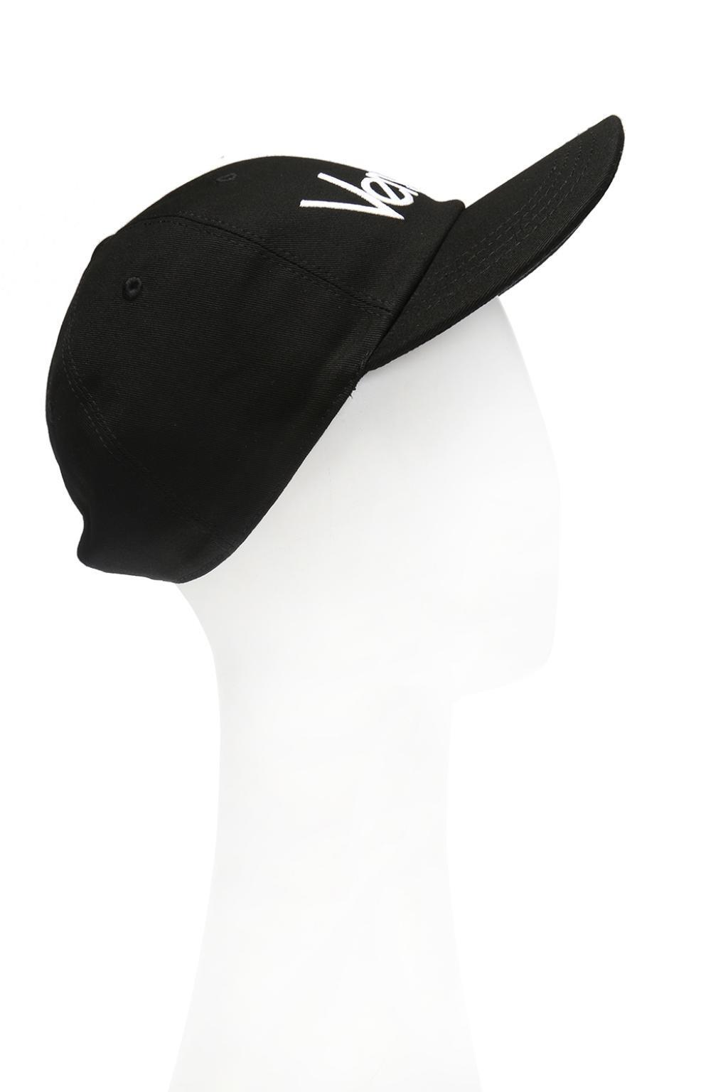 Versace - Black Branded Baseball Cap for Men - Lyst. View fullscreen c0fcc12b3c0b