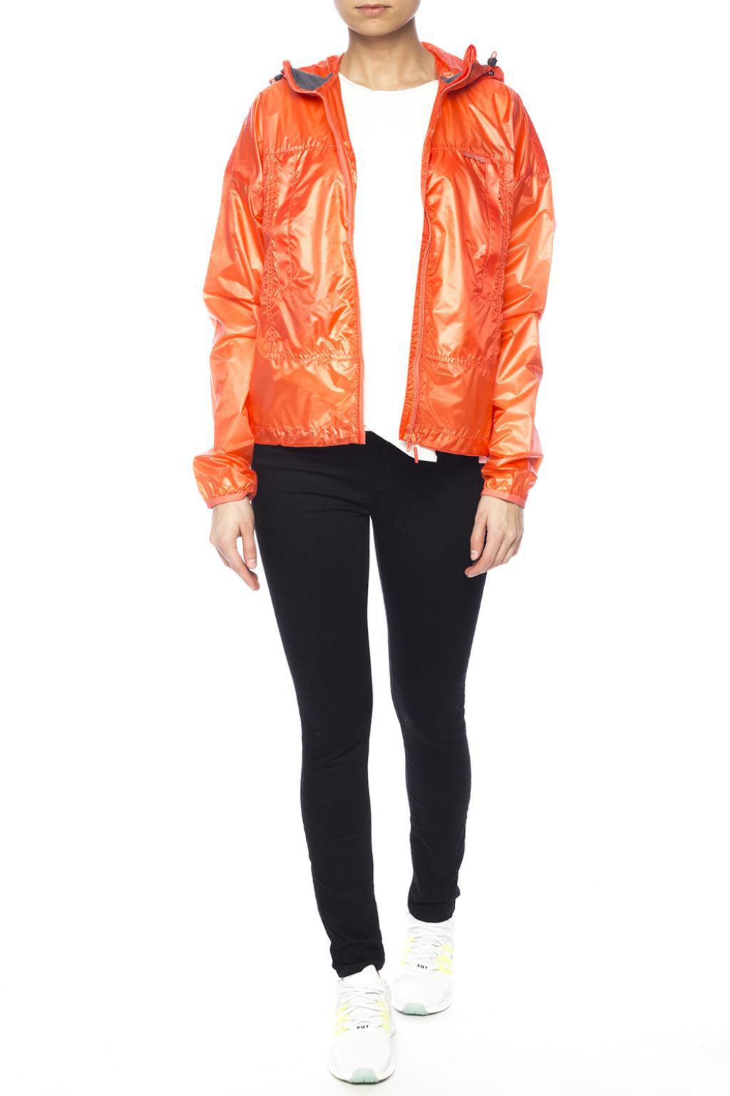 Canada Goose - Orange Hooded Rain Jacket - Lyst. View fullscreen