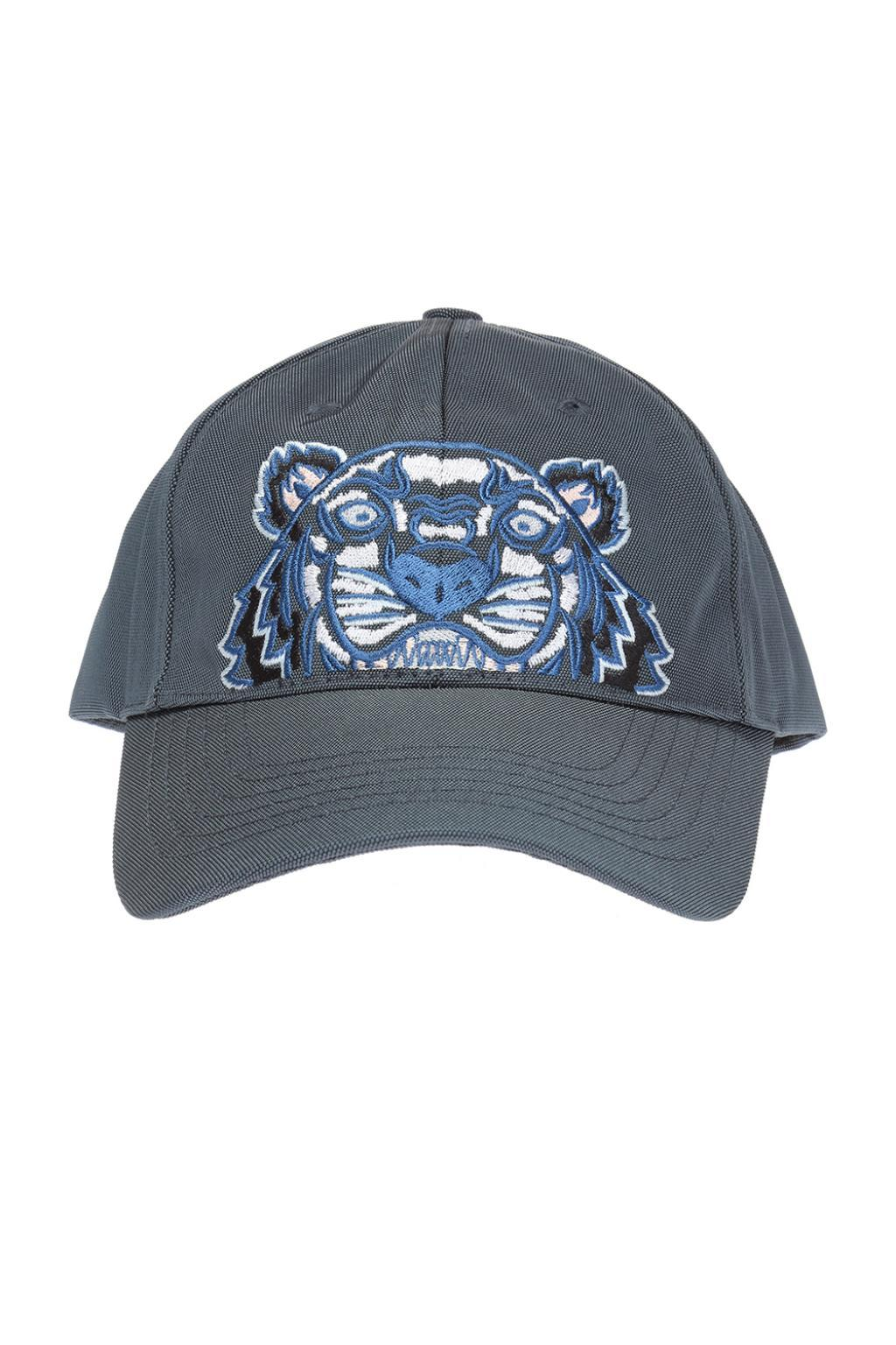 a6c25b8a3be Lyst - KENZO Embroidered Tiger Head Baseball Cap in Gray for Men