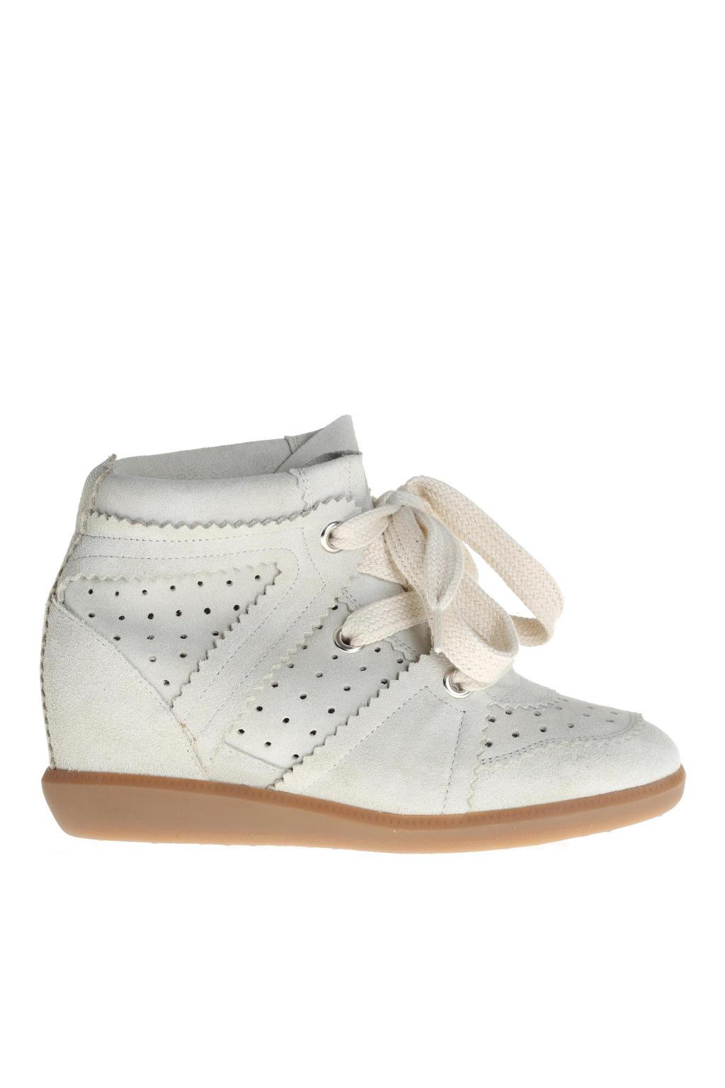 754795fe621c Étoile Isabel Marant Wedge  bobby  Sneakers in White - Lyst