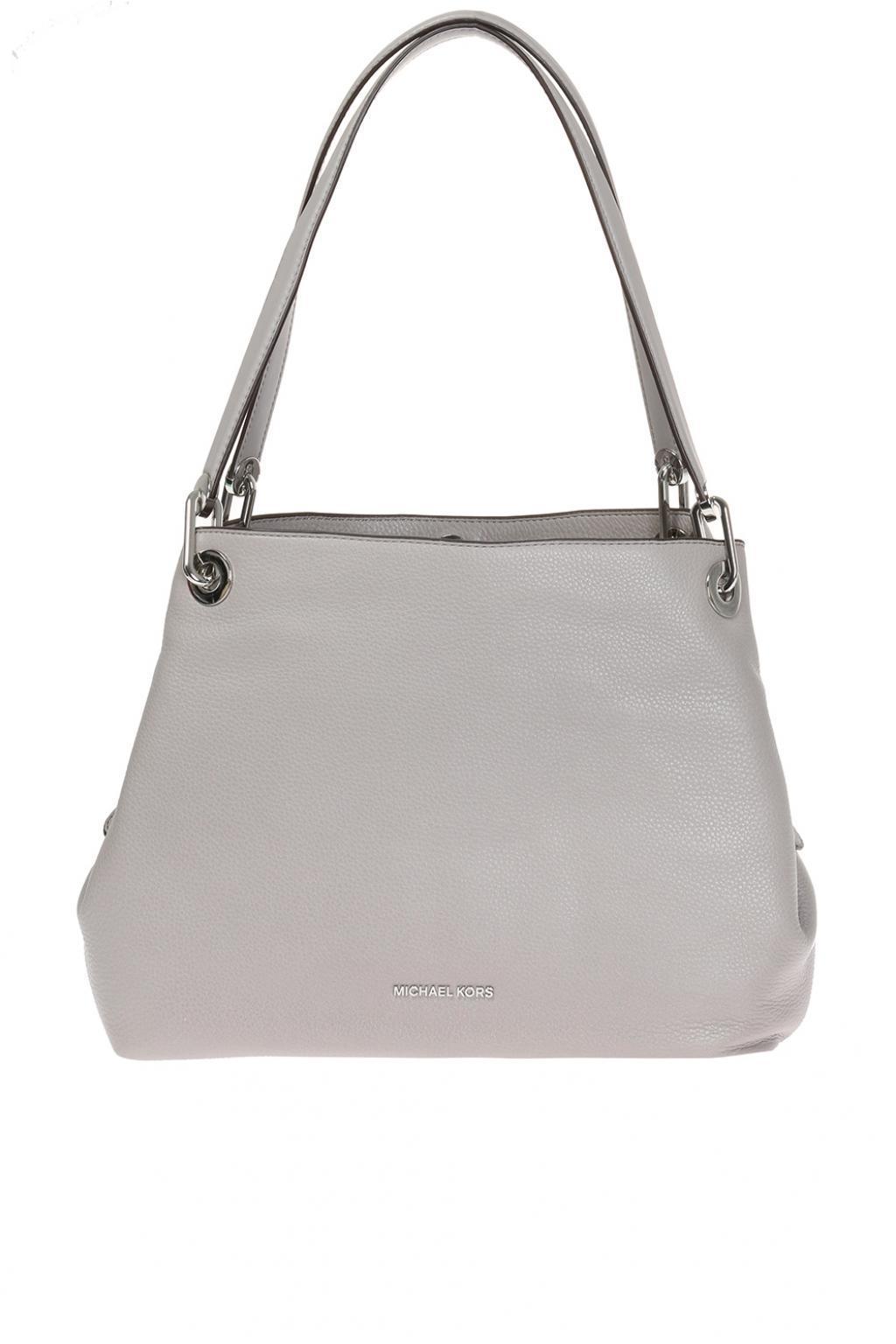 371b9d733cf39 Double click Michael Kors raven Shoulder Bag in Gray - Lyst Buy ...