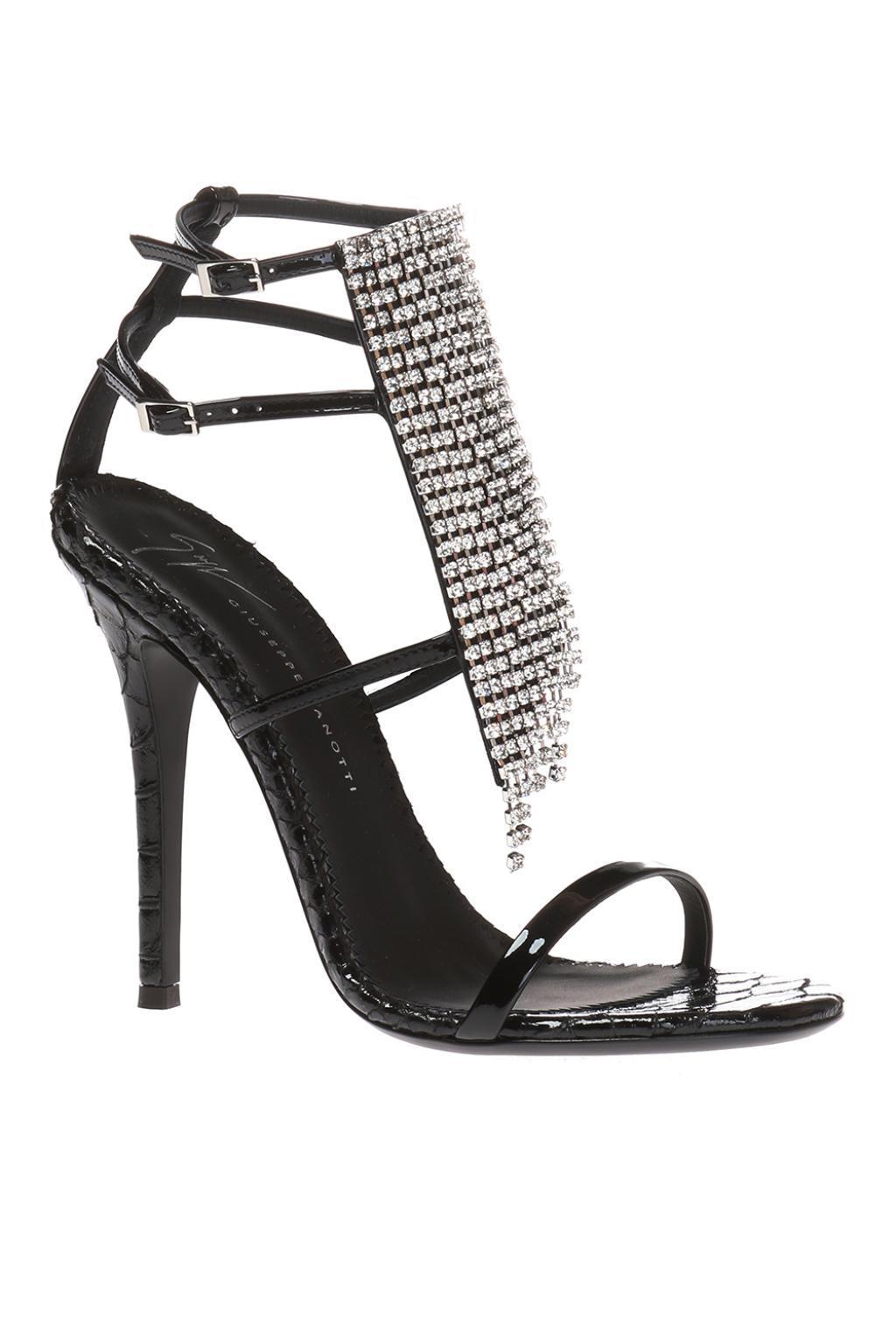 af5da3ed42a Giuseppe Zanotti - Black  alien  Heeled Sandals - Lyst. View fullscreen