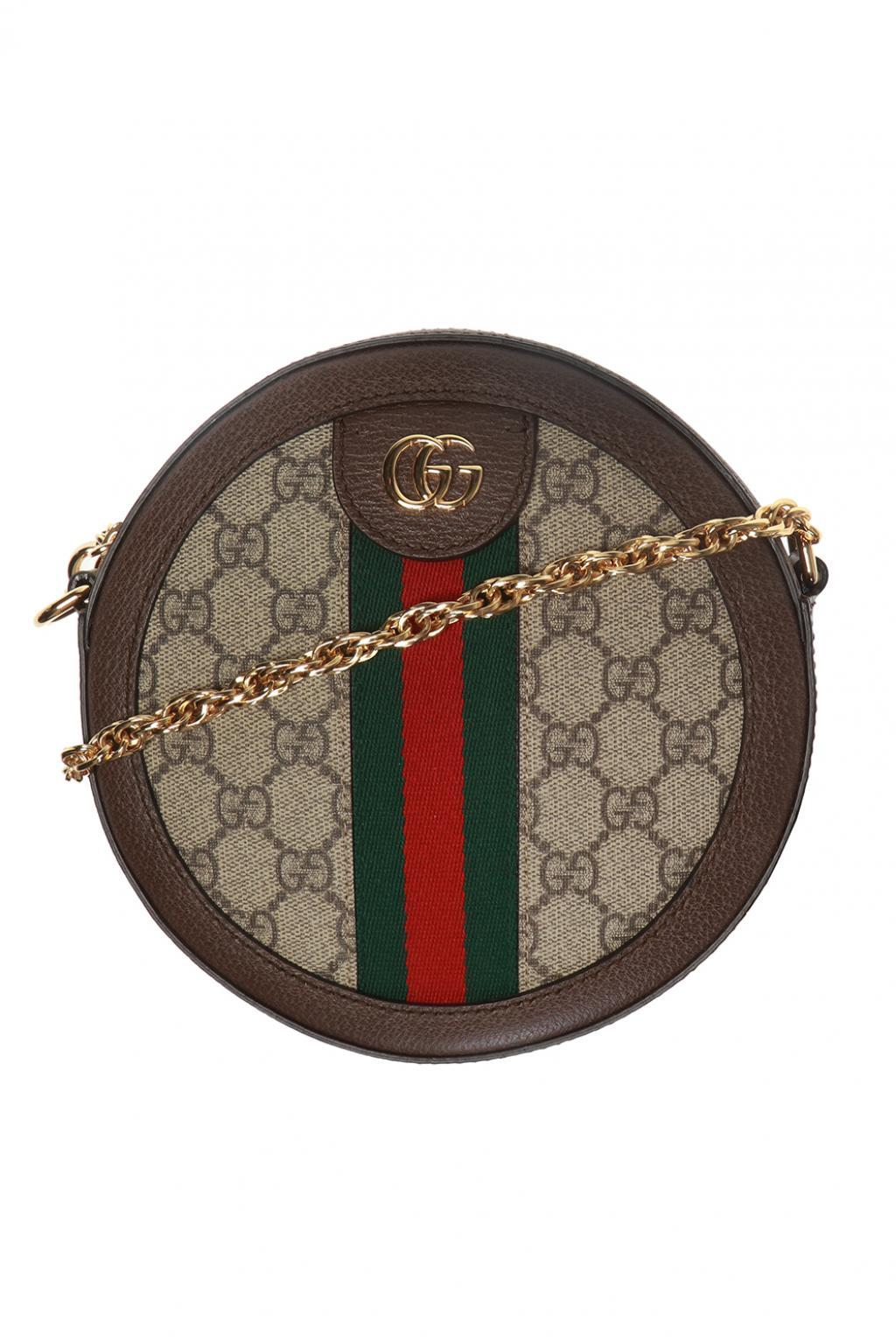 7bbd4df7df76 Gucci 'ophidia' Shoulder Bag in Brown - Save 9% - Lyst