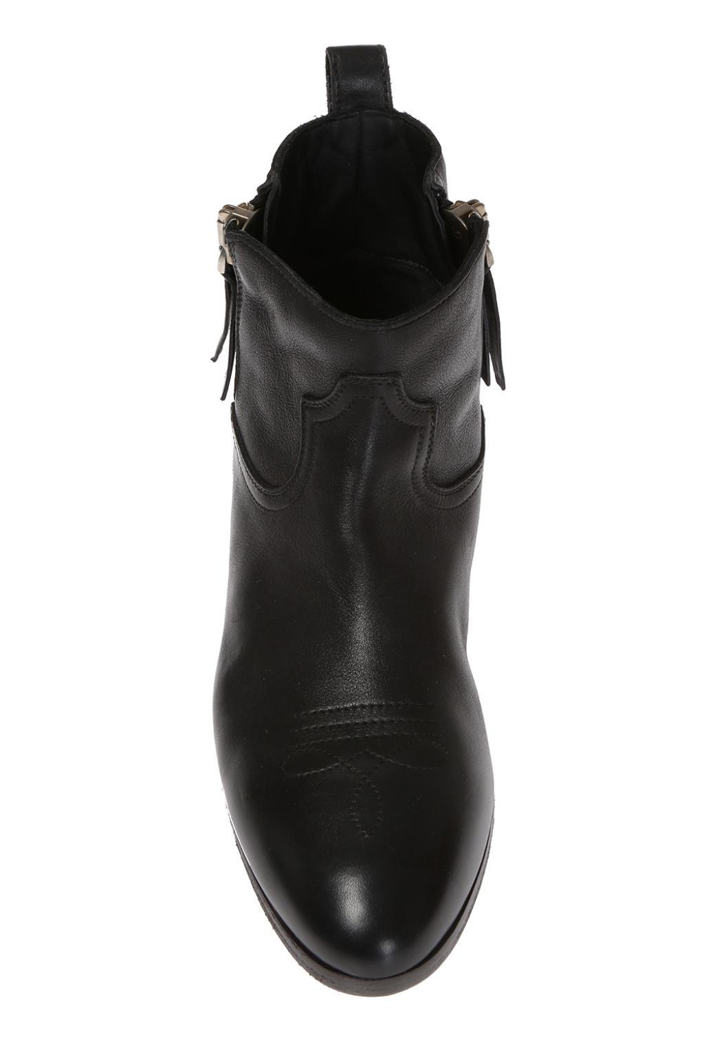 Golden Goose Deluxe Brand Goose 'viand' Heeled Ankle Boots in Black