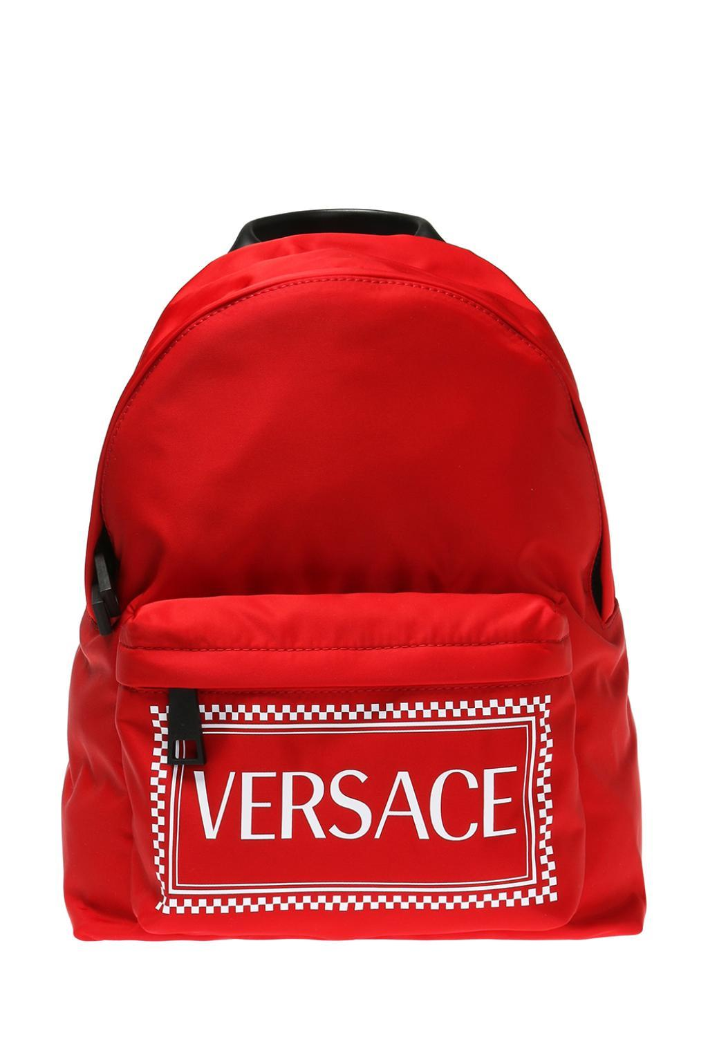7bef9a7474 Versace - Red Branded Backpack - Lyst. View fullscreen