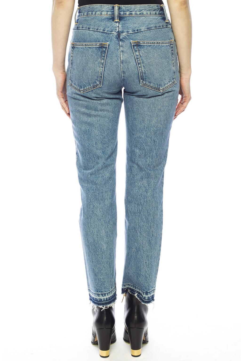 Helmut Lang Denim Straight Leg Jeans Blue