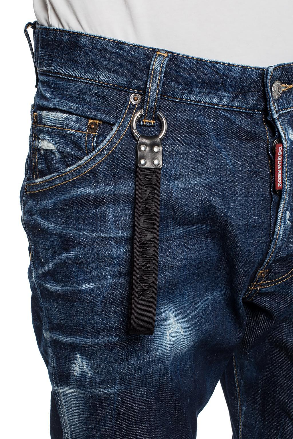 fbad6518154 Lyst - DSquared² 'classic Kenny Twist' Distressed Jeans in Blue for Men
