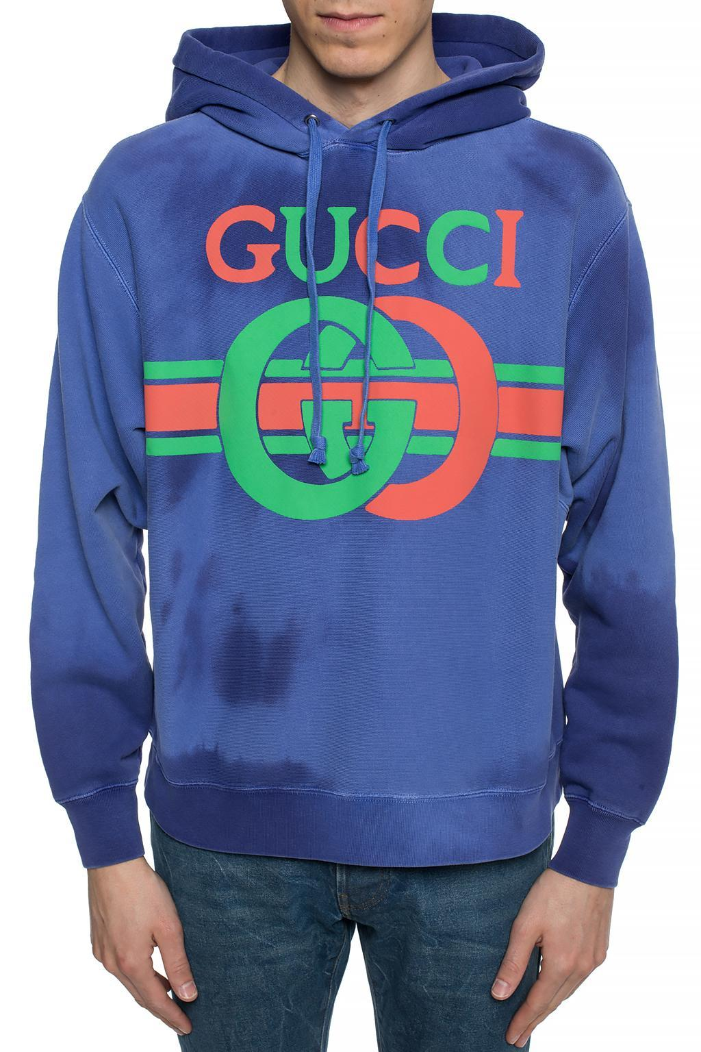 ever popular promo codes latest design Gucci Logo-print Loopback Cotton-jersey Hoodie in Purple for Men ...
