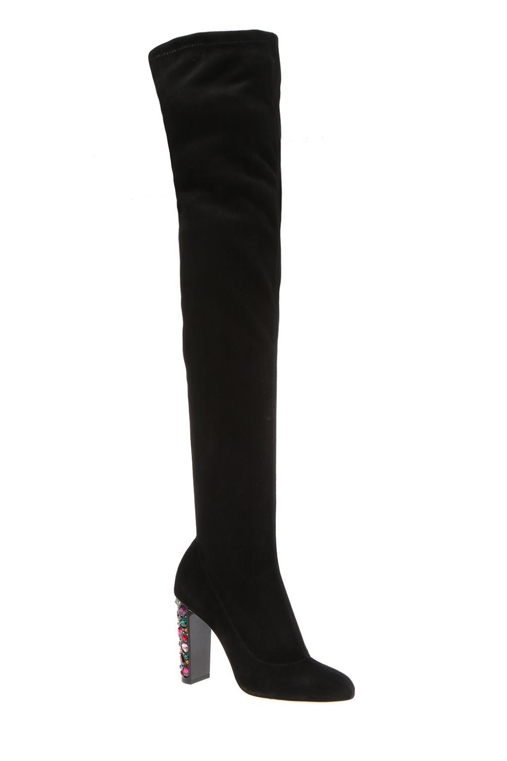 Jimmy Choo Suede 'maine' Over-the-knee Boots in Black