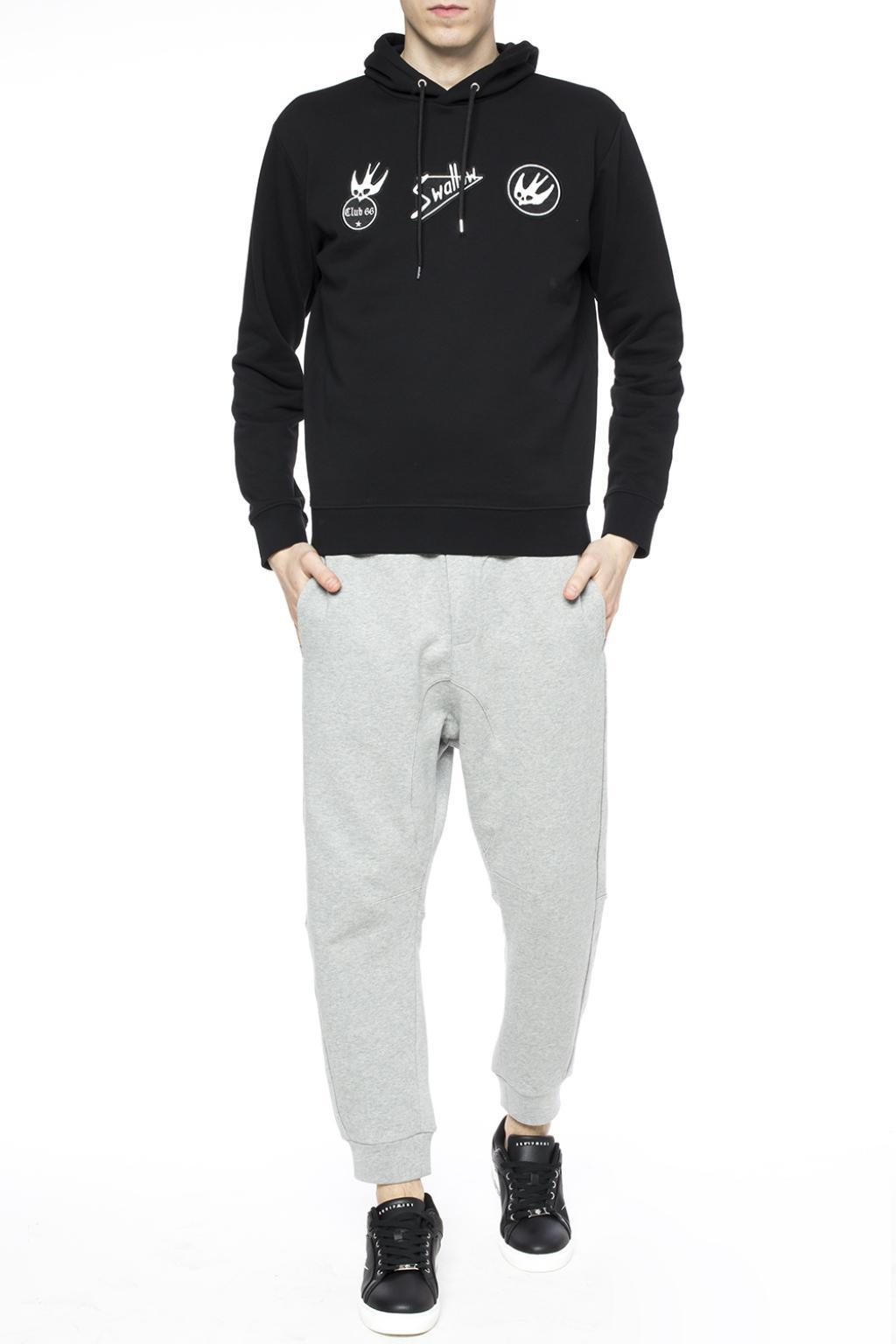 McQ Cotton Patched Sweatshirt in Black for Men