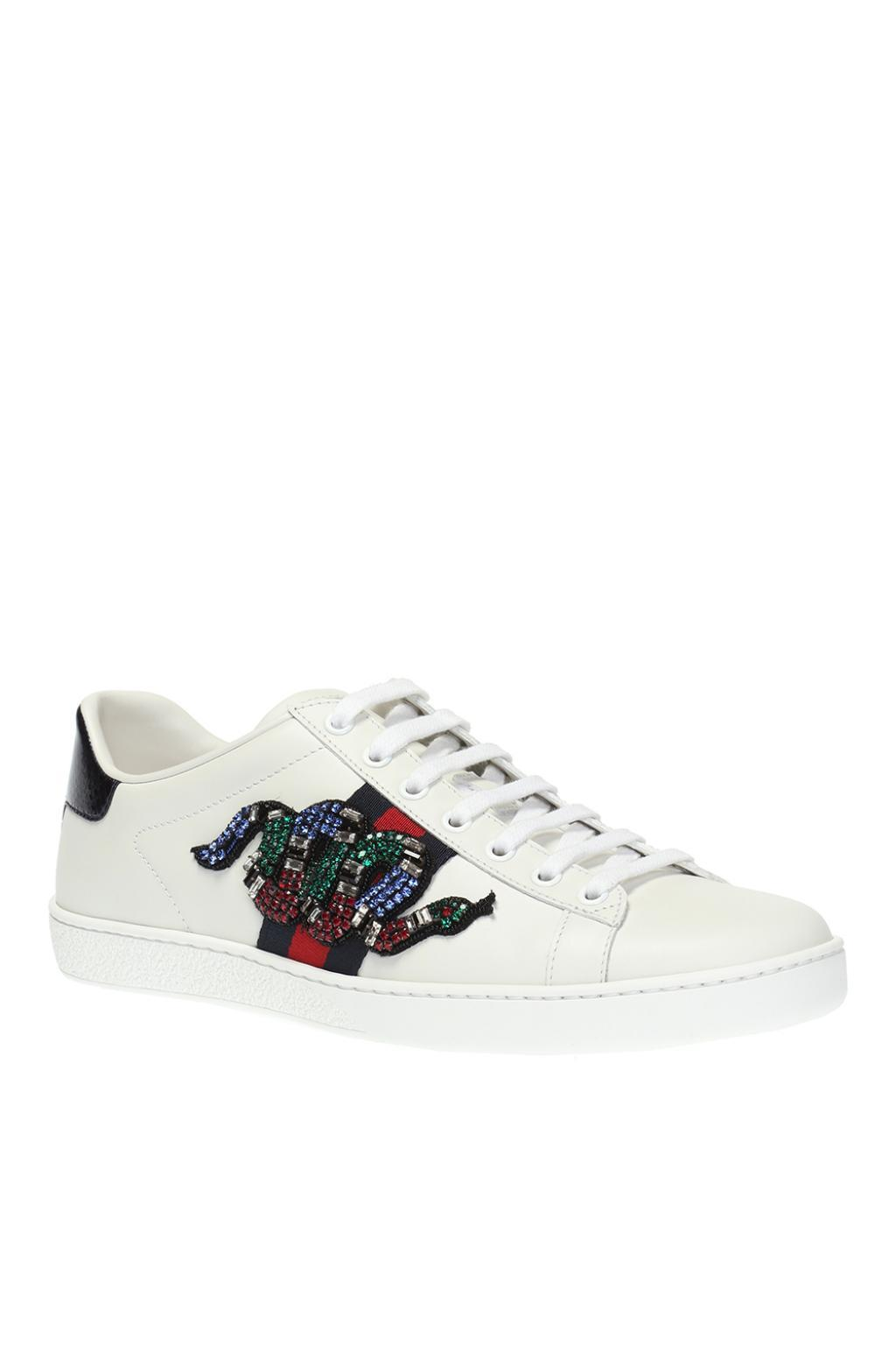 Gucci 'ace' Snake Motif Sneakers in