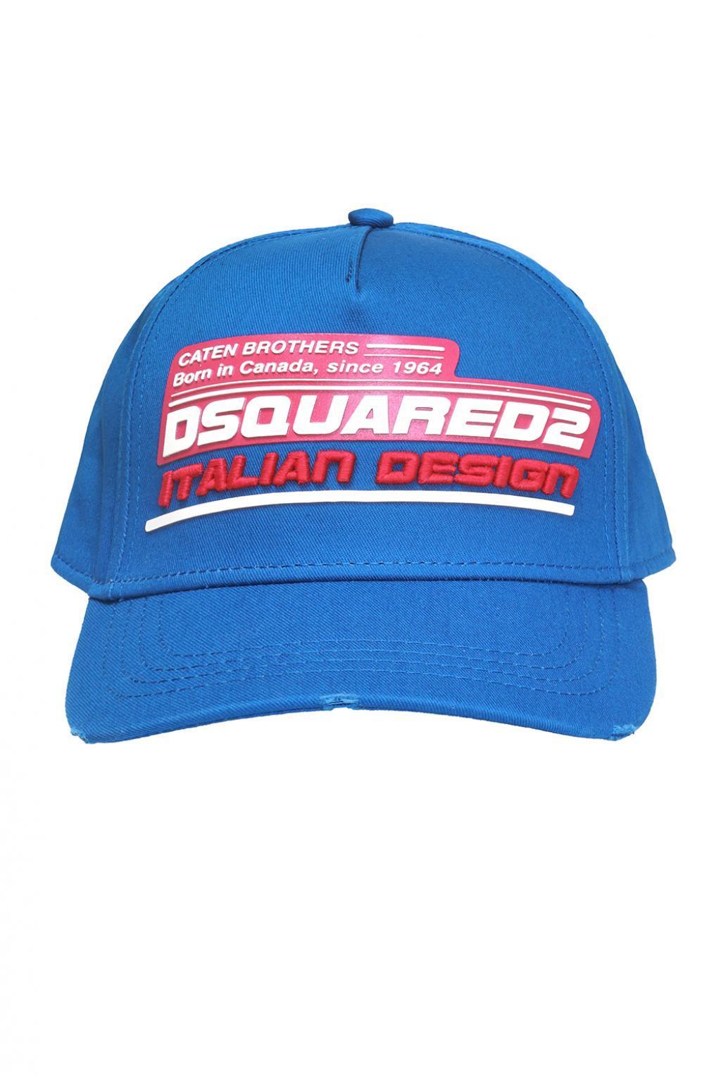 106607f24dd40f DSquared² Branded Baseball Cap in Blue for Men - Lyst