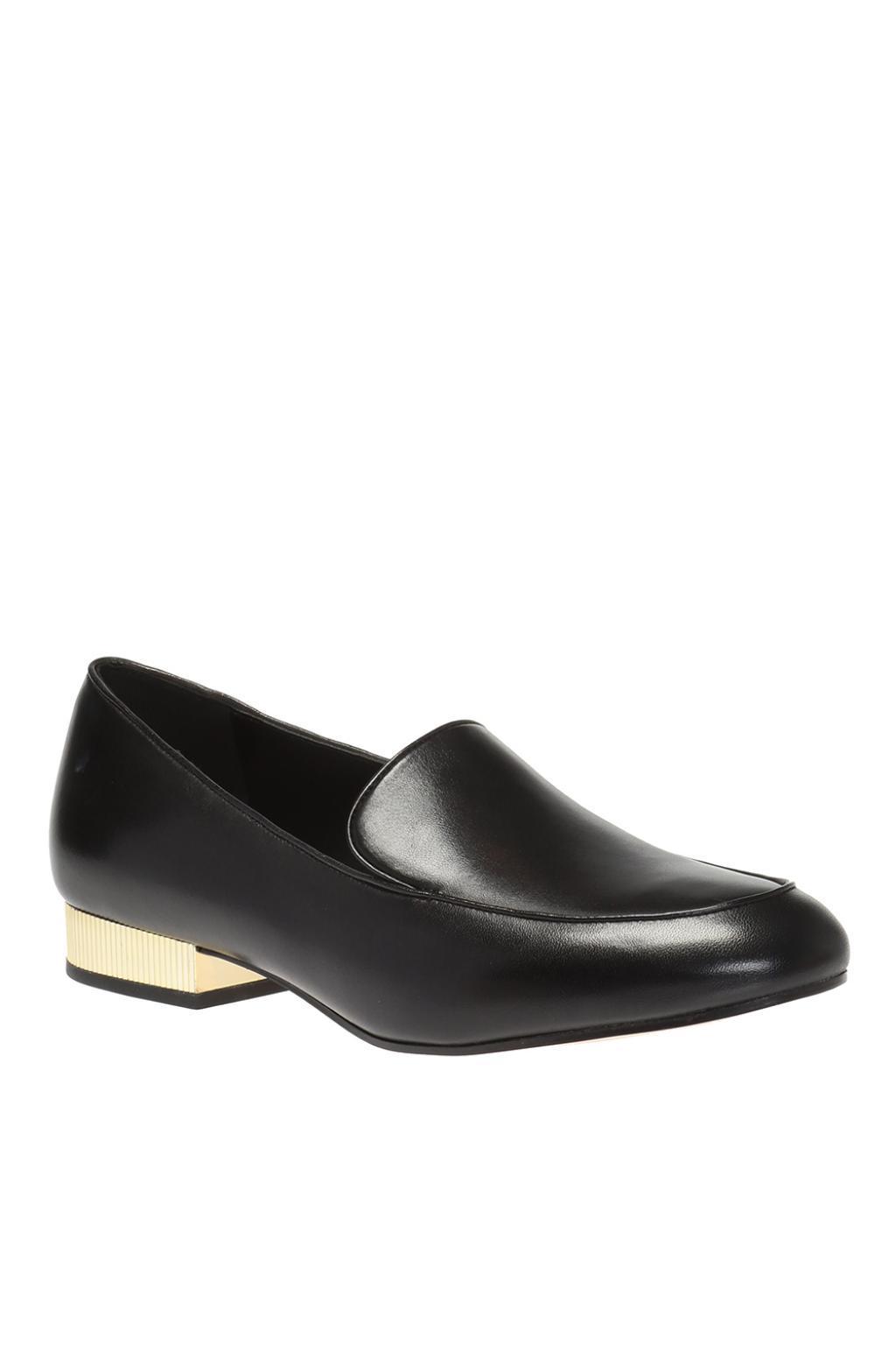 Michael Kors Leather Metal Heel Loafers
