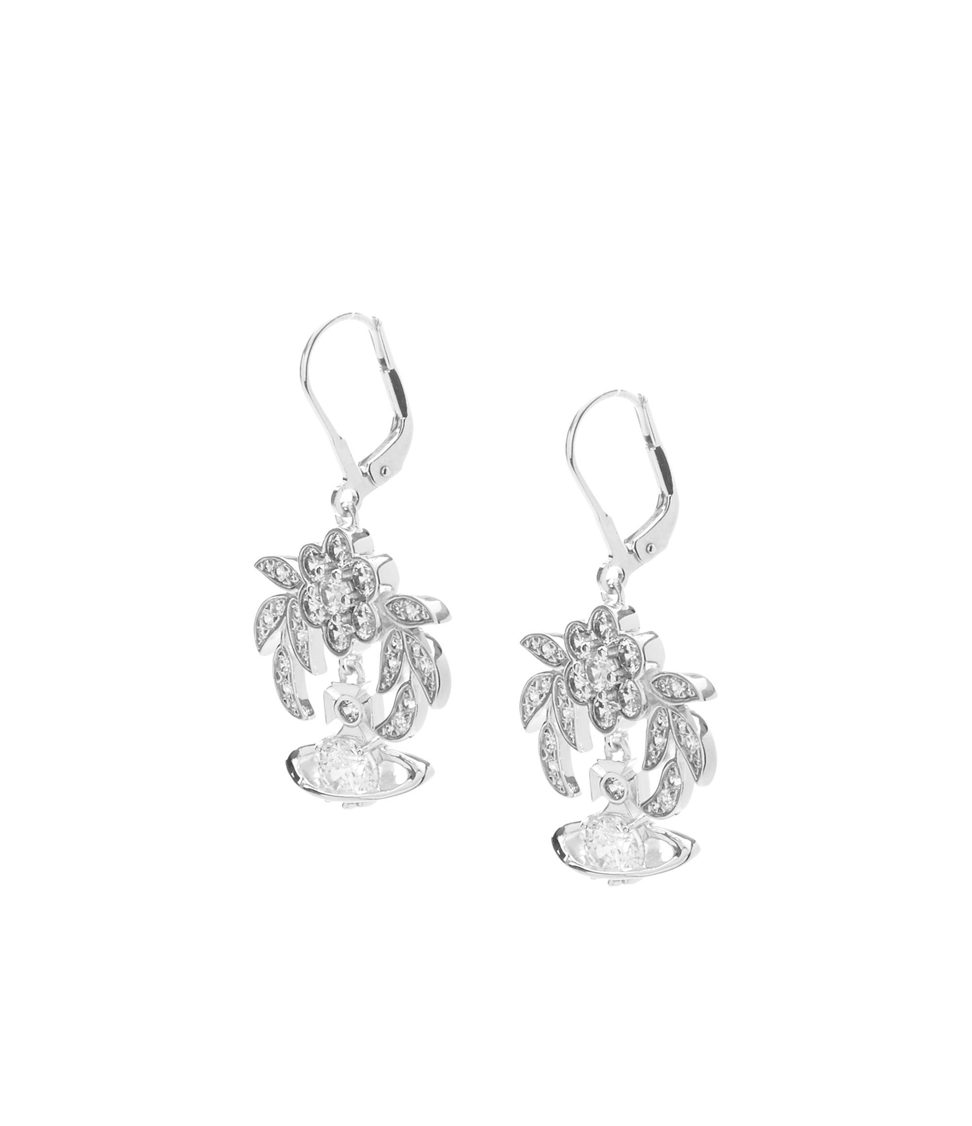 ad236133b07ec Vivienne Westwood Metallic Amma Drop Earrings Silver Tone