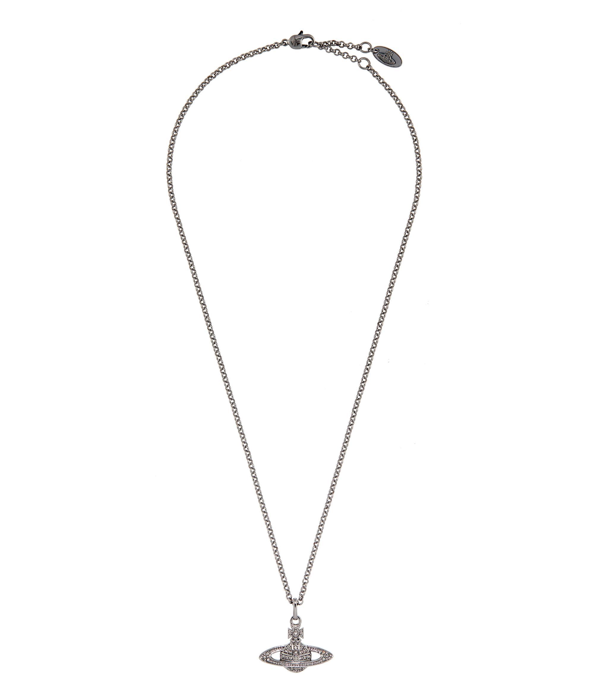 Vivienne Westwood   Mini Bas Relief Pendant Black Diamond   Lyst. View  Fullscreen