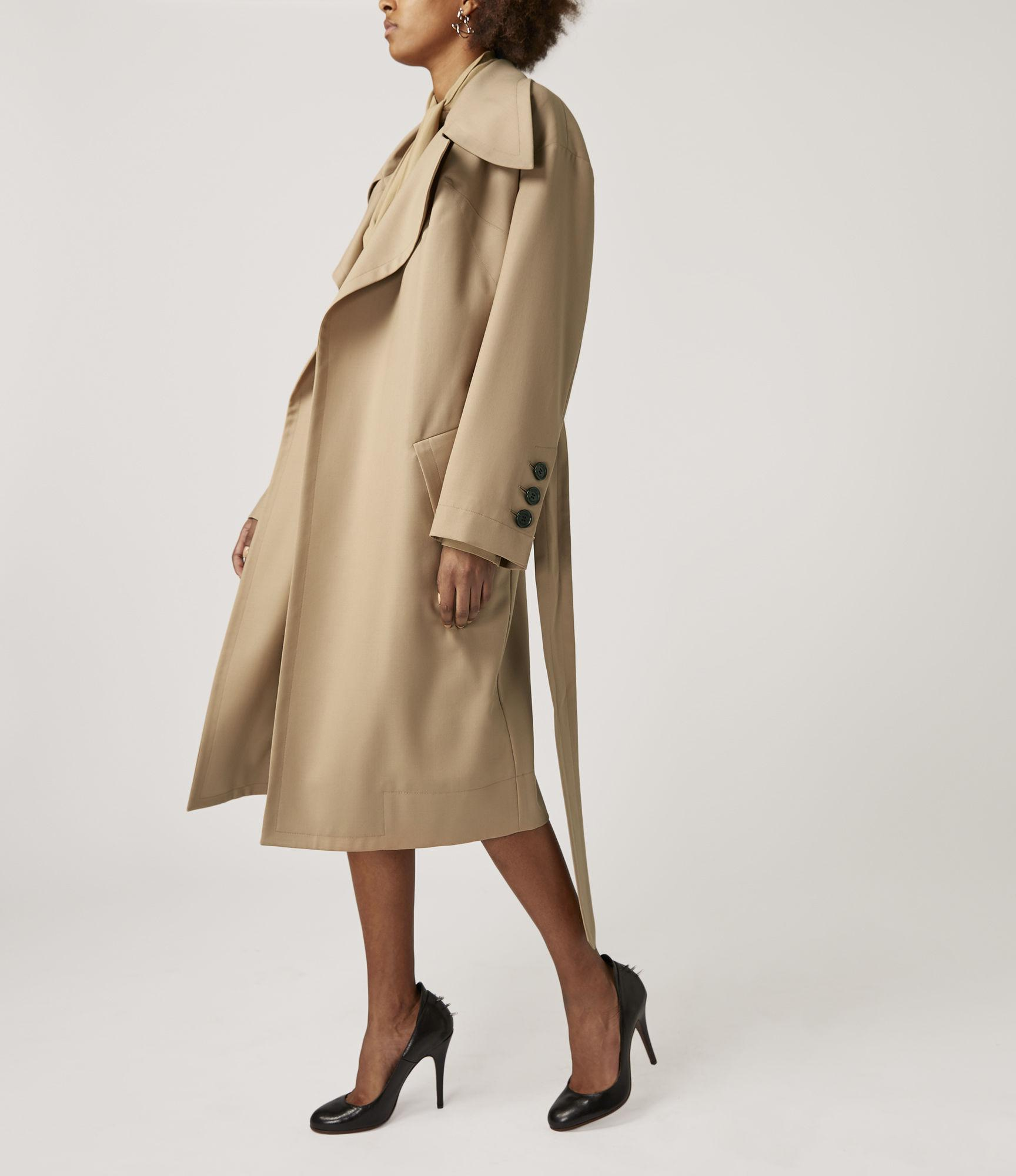 68daeb1a6 Vivienne Westwood Wilma Wrap Coat in Natural - Lyst