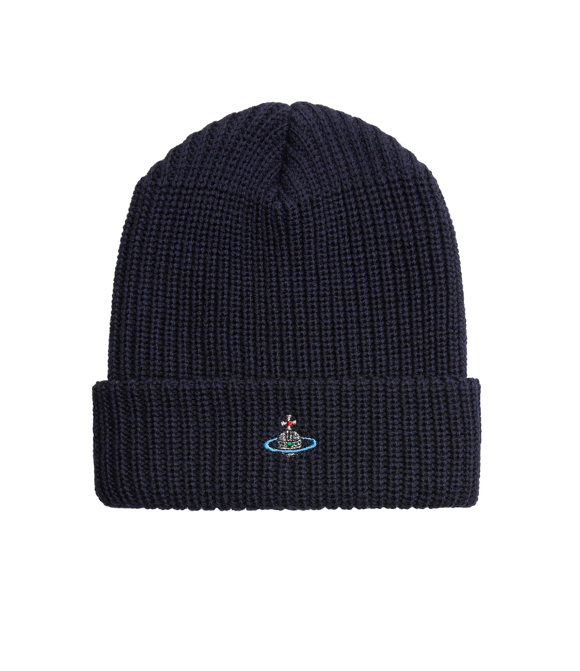 Vivienne Westwood Beanie Hat Navy in Blue for Men - Lyst 45d3a916ba4e